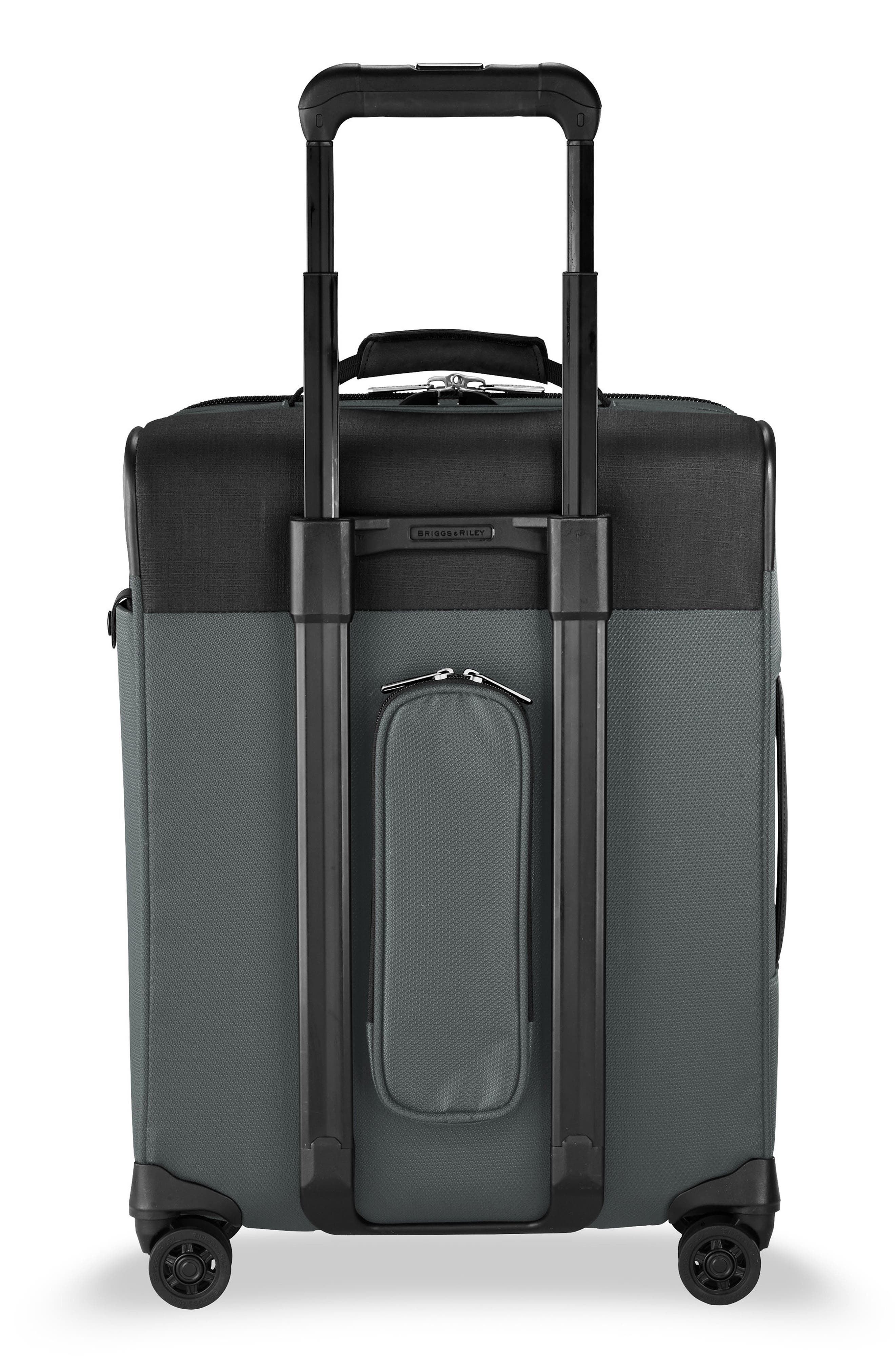 BRIGGS & RILEY, Transcend VX Wide Expandable 21-Inch Spinner Suitcase, Alternate thumbnail 4, color, SLATE GREY