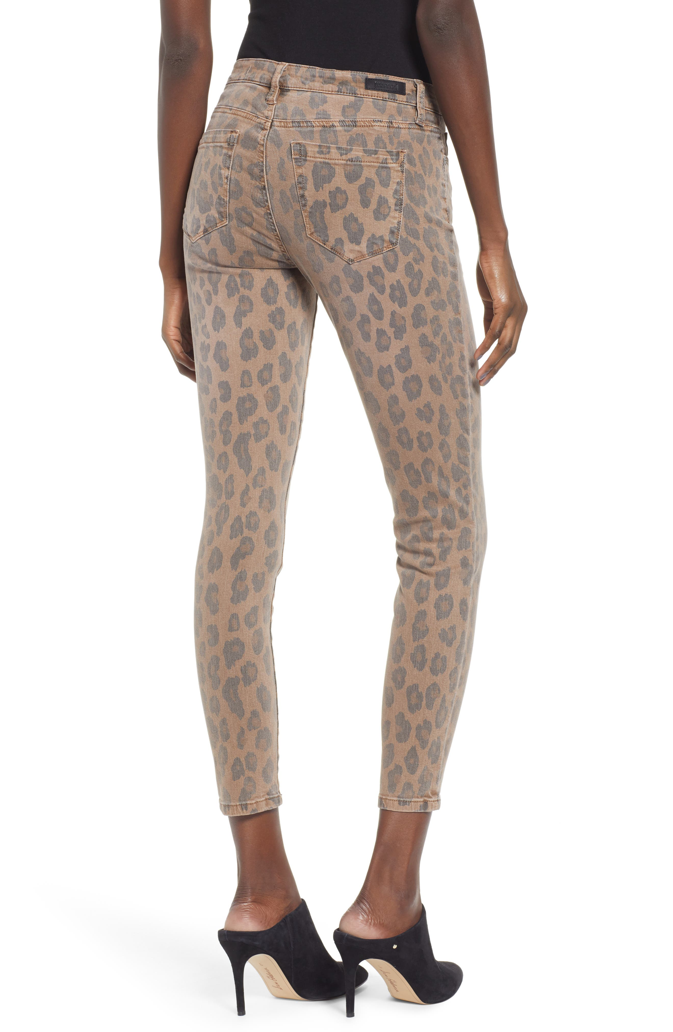 BLANKNYC, The Reade Leopard Crop Skinny Jeans, Alternate thumbnail 2, color, CATWALK