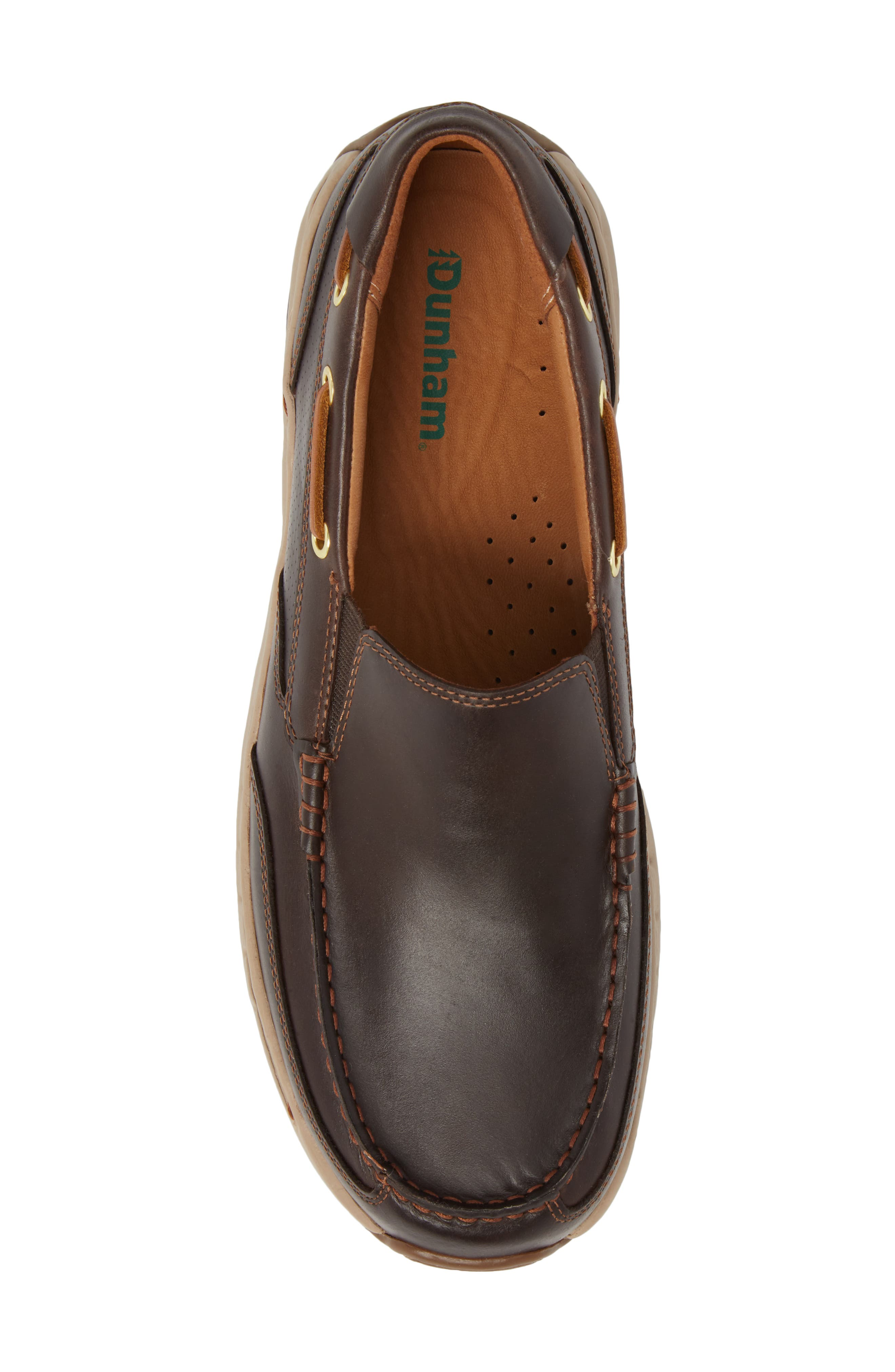 DUNHAM, Waterford Water Resistant Slip-On, Alternate thumbnail 5, color, TAN LEATHER