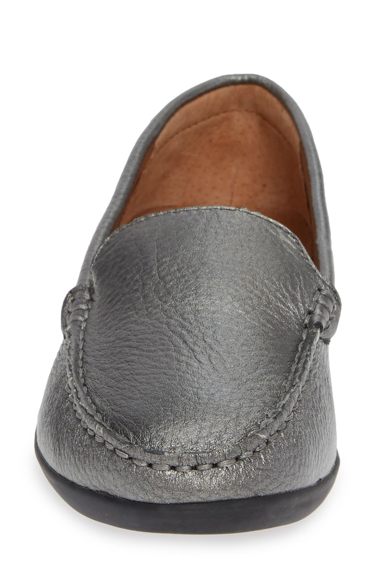 SUDINI, Laila Loafer, Alternate thumbnail 4, color, PEWTER FABRIC