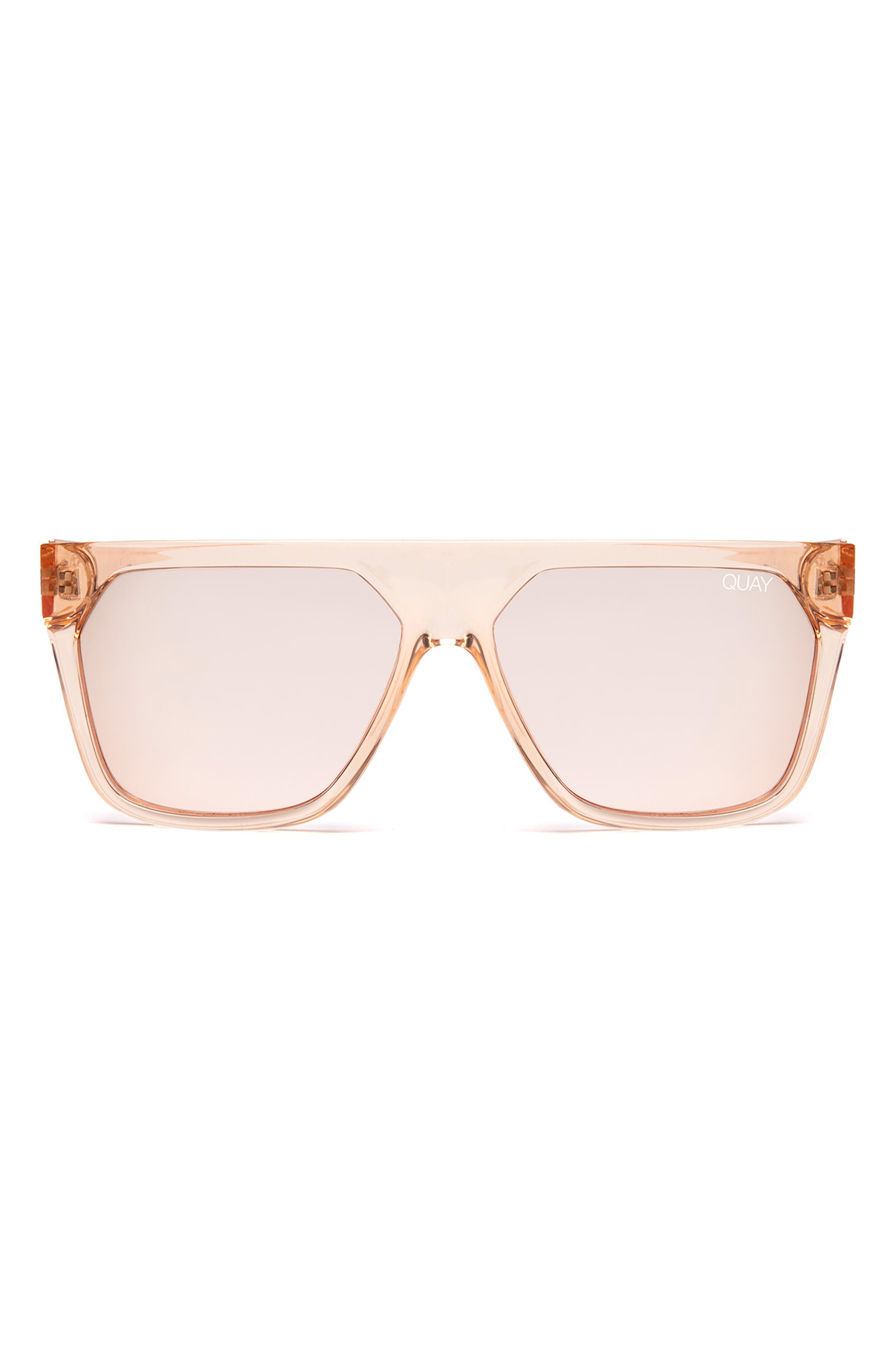 QUAY AUSTRALIA, x Jaclyn Hill Very Busy 58mm Shield Sunglasses, Alternate thumbnail 2, color, CHAMPAGNE / ROSE