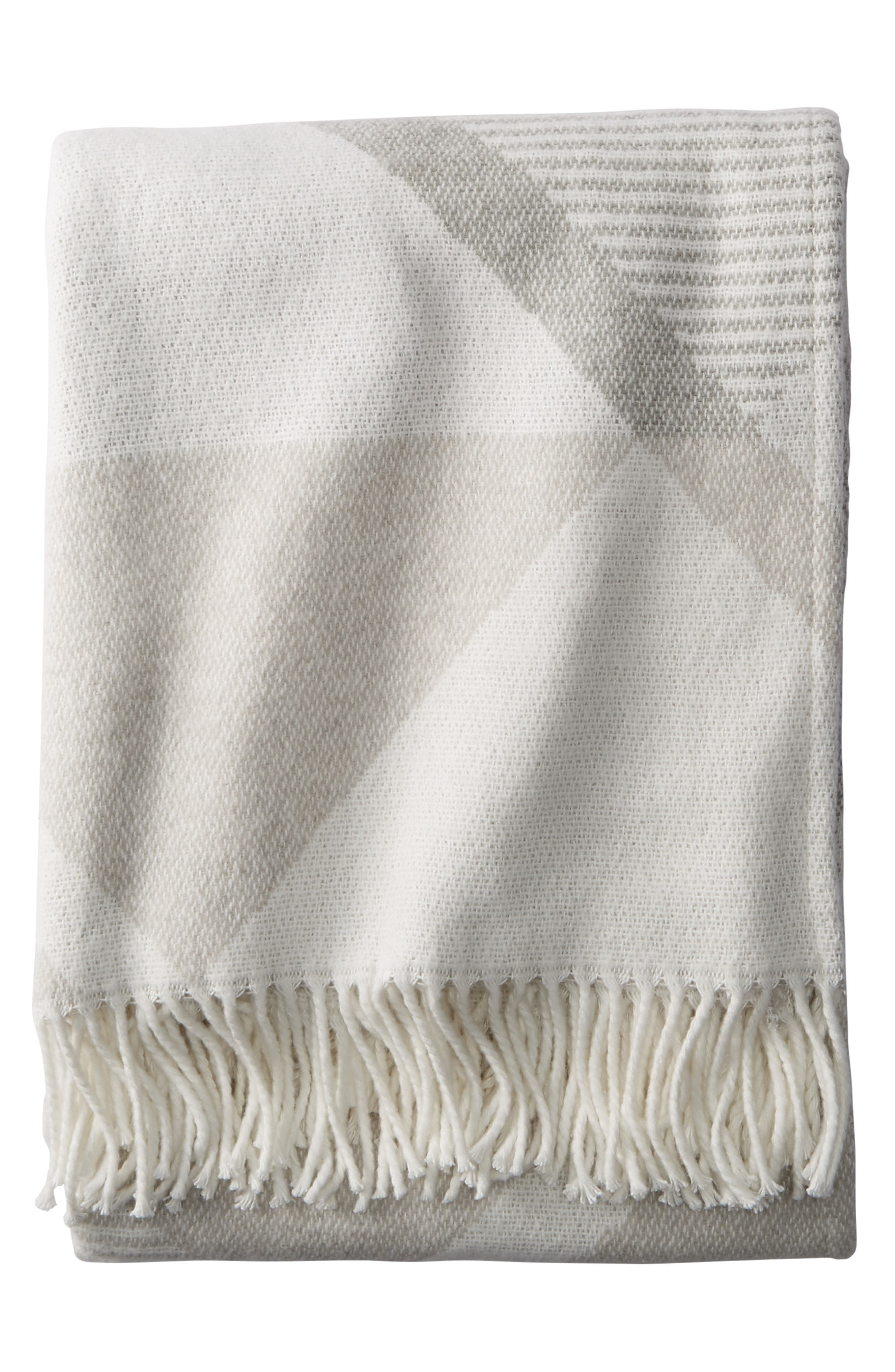 PENDLETON Serrado Throw Blanket, Main, color, GREY