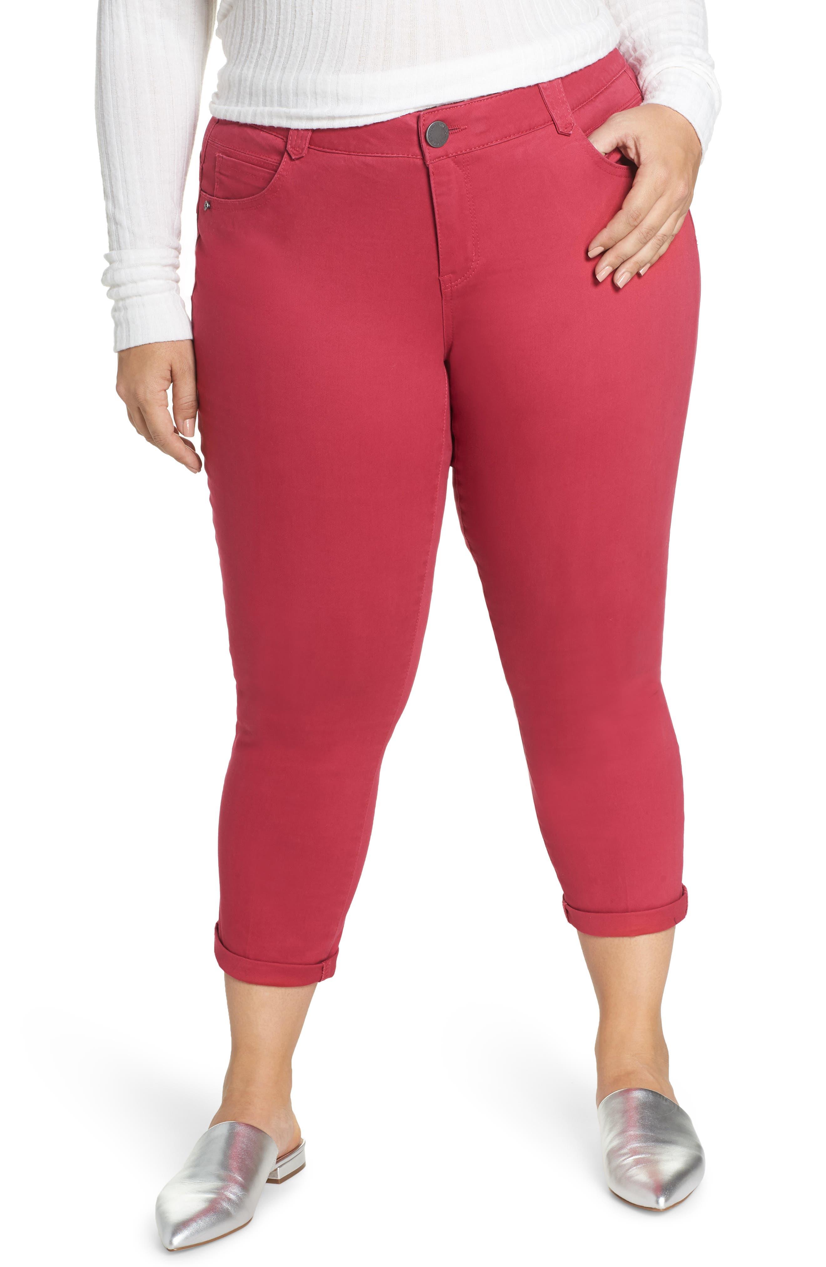 WIT & WISDOM Ab-Solution Ankle Skimmer Jeans, Main, color, GRANITA