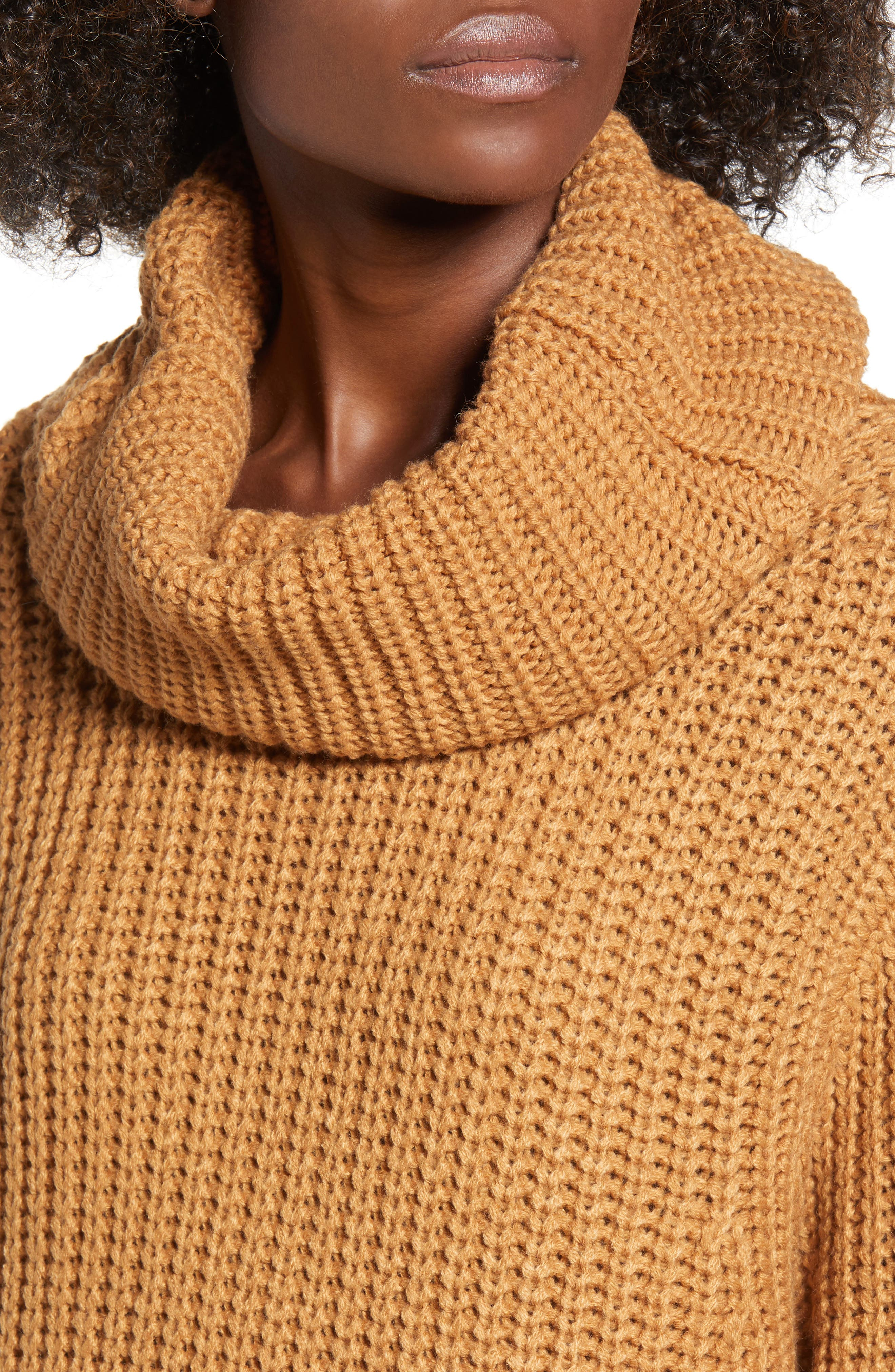 LEITH, Oversize Turtleneck Sweater, Alternate thumbnail 4, color, 235