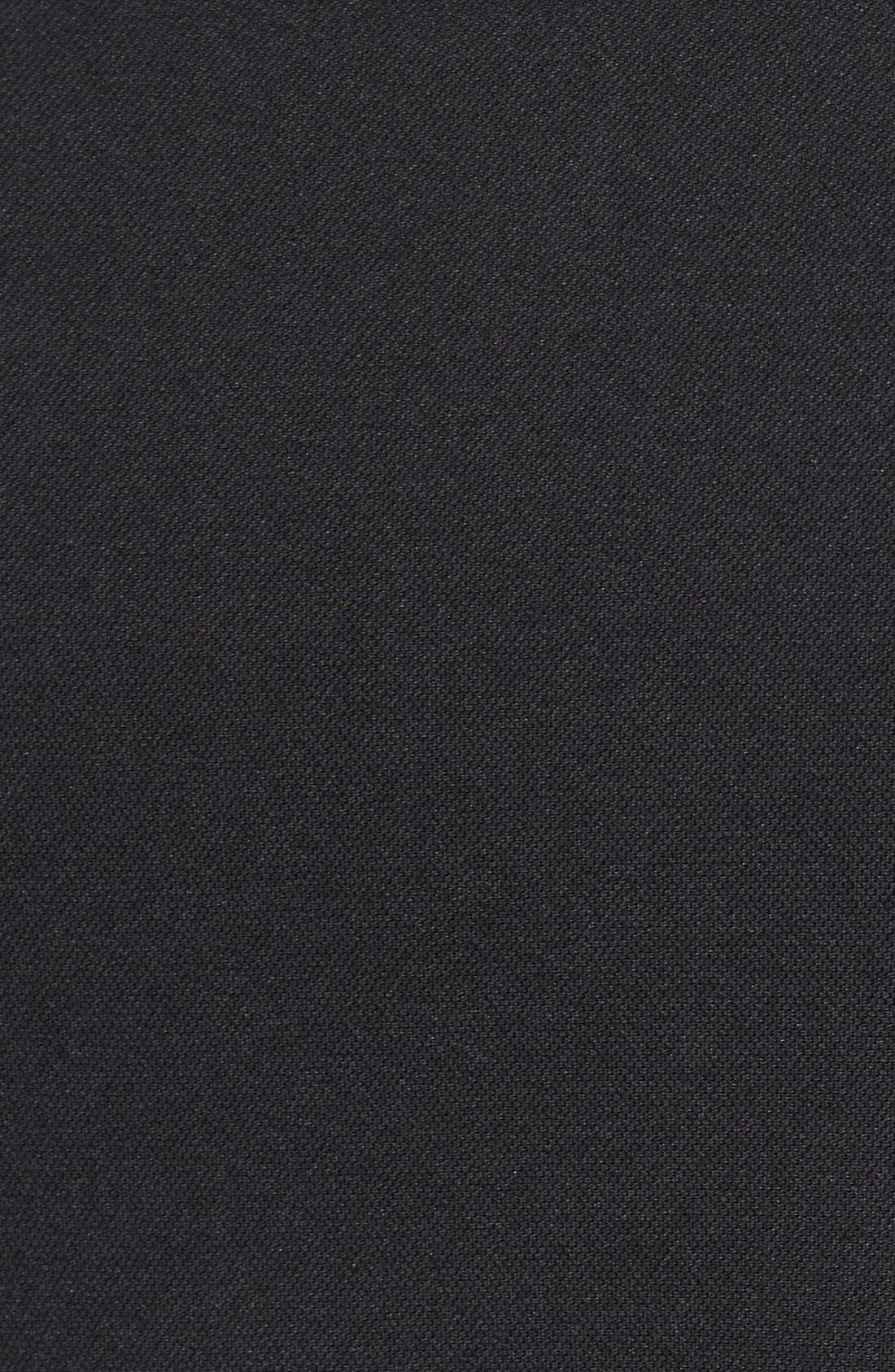 LACOSTE, Tipped Quick Dry Piqué Polo, Alternate thumbnail 5, color, BLACK/ WHITE