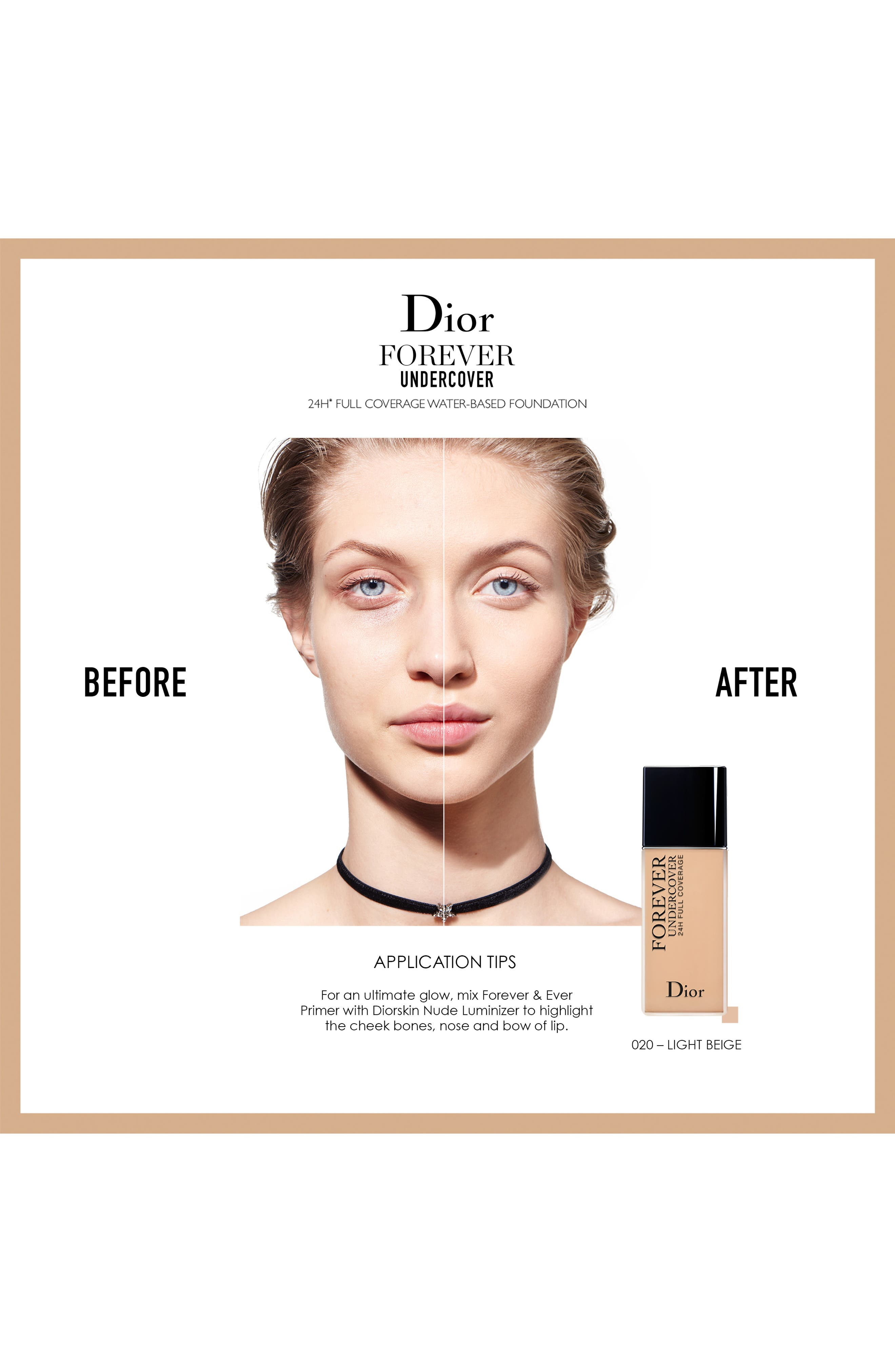 DIOR, Diorskin Forever Undercover 24-Hour Full Coverage Water-Based Foundation, Alternate thumbnail 2, color, 051 PRALINE