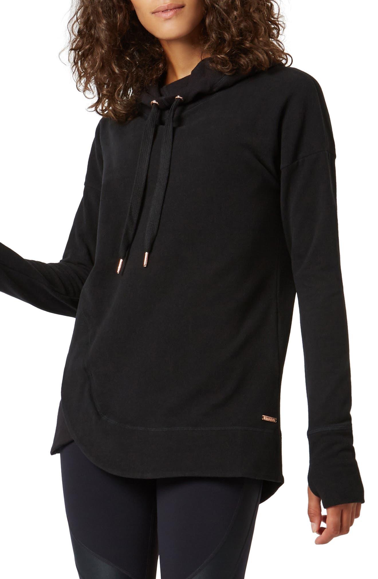 SWEATY BETTY Invigorate Luxe Hoodie, Main, color, BLACK