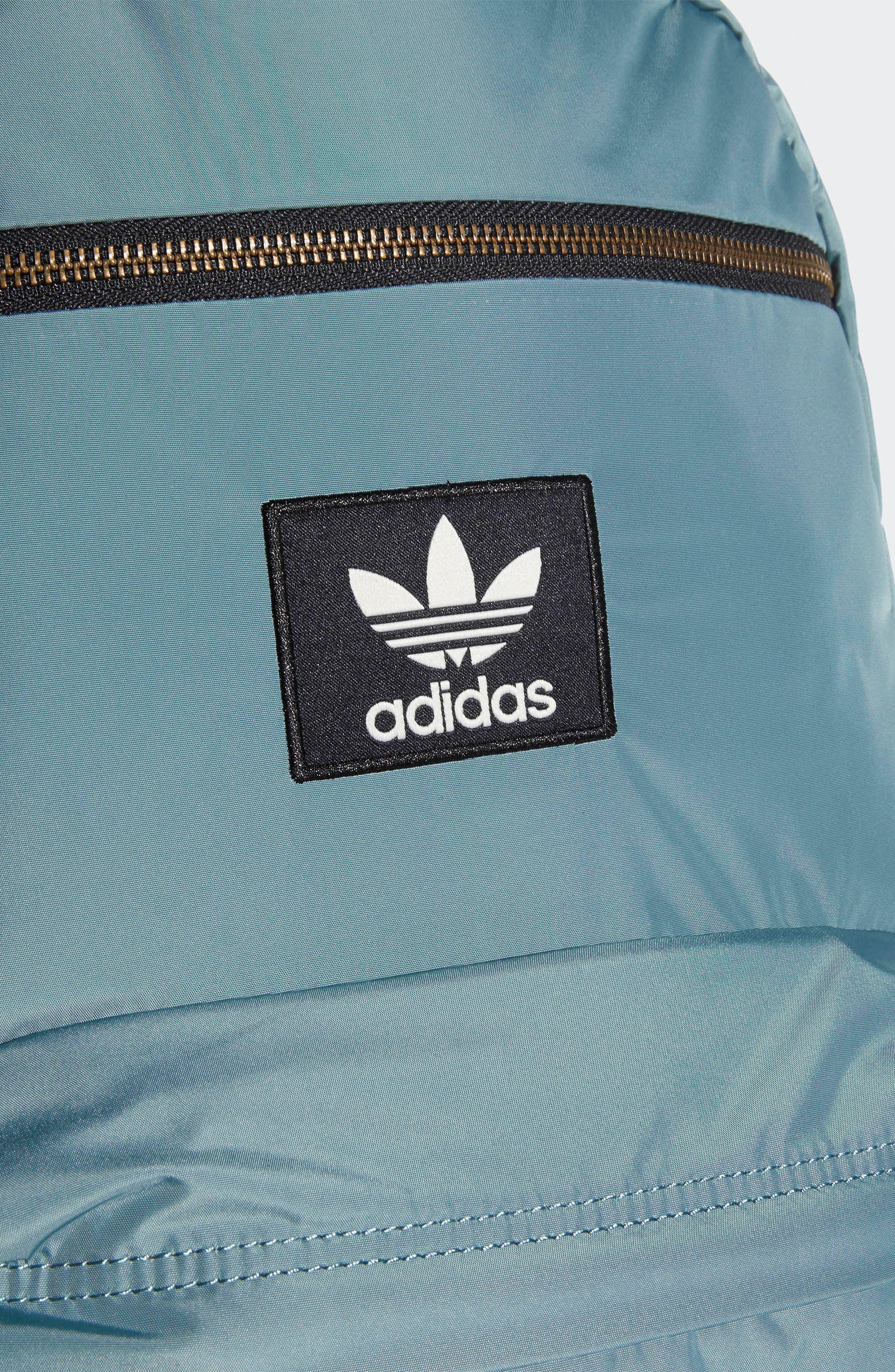 ADIDAS ORIGINALS, National Plus Backpack, Alternate thumbnail 7, color, RAW GREEN