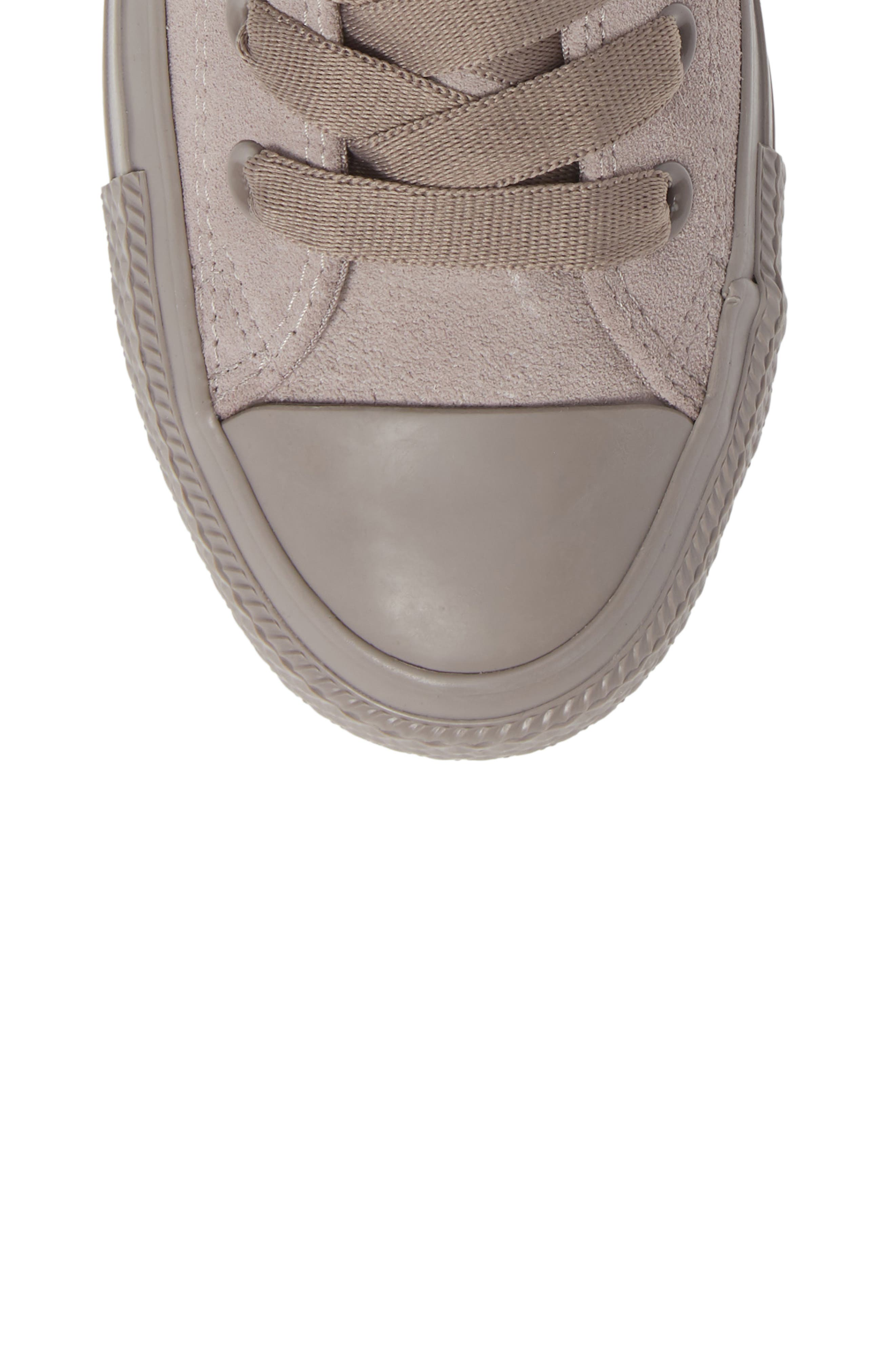 CONVERSE, Chuck Taylor<sup>®</sup> All Star<sup>®</sup> Hi Sneaker, Alternate thumbnail 5, color, MERCURY GREY SUEDE