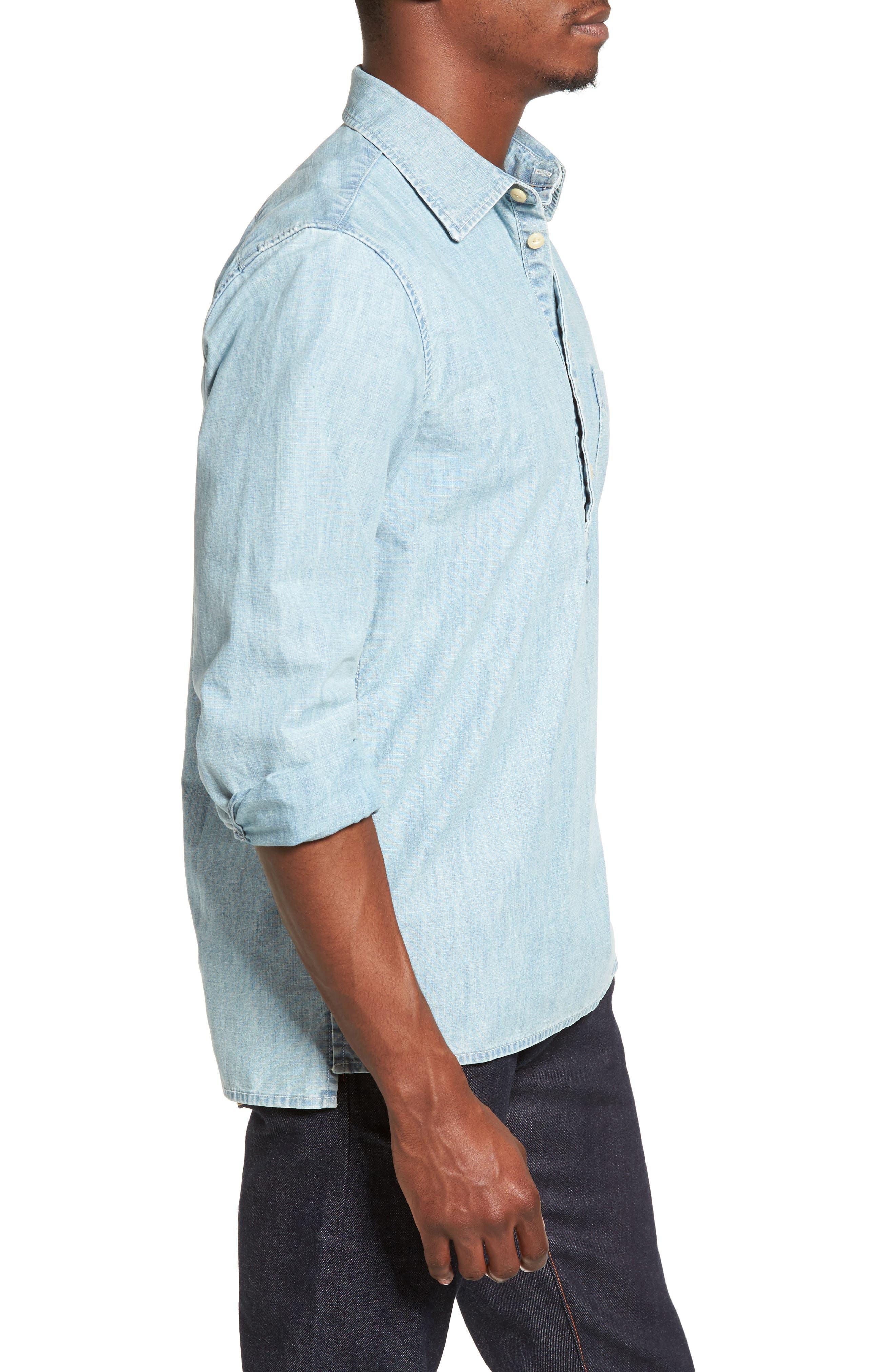 JEAN SHOP, Ethan Chambray Shirt, Alternate thumbnail 3, color, 470