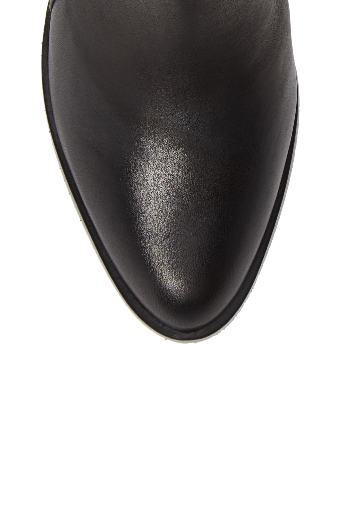 CLARKS<SUP>®</SUP>, Poise Lola Bootie, Alternate thumbnail 5, color, BLACK LEATHER