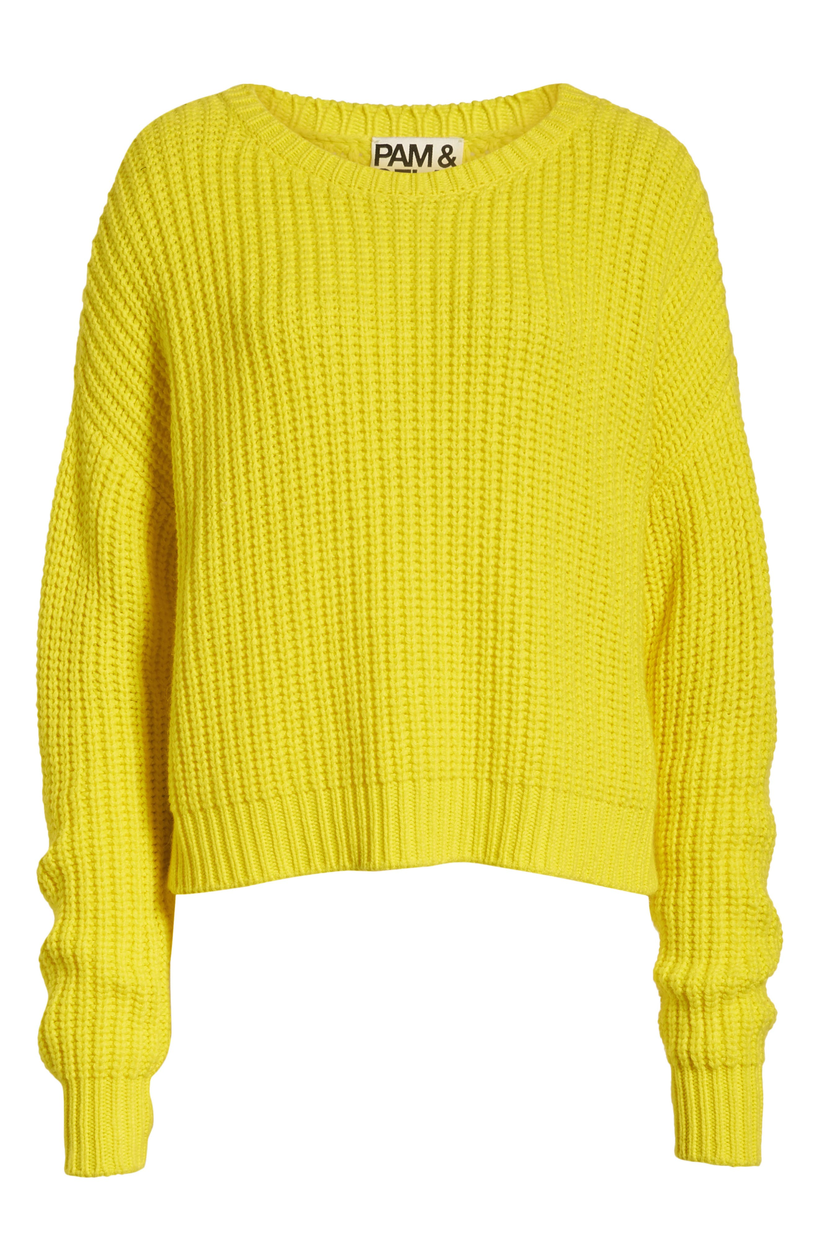 PAM & GELA, High/Low Sweater, Alternate thumbnail 6, color, 729
