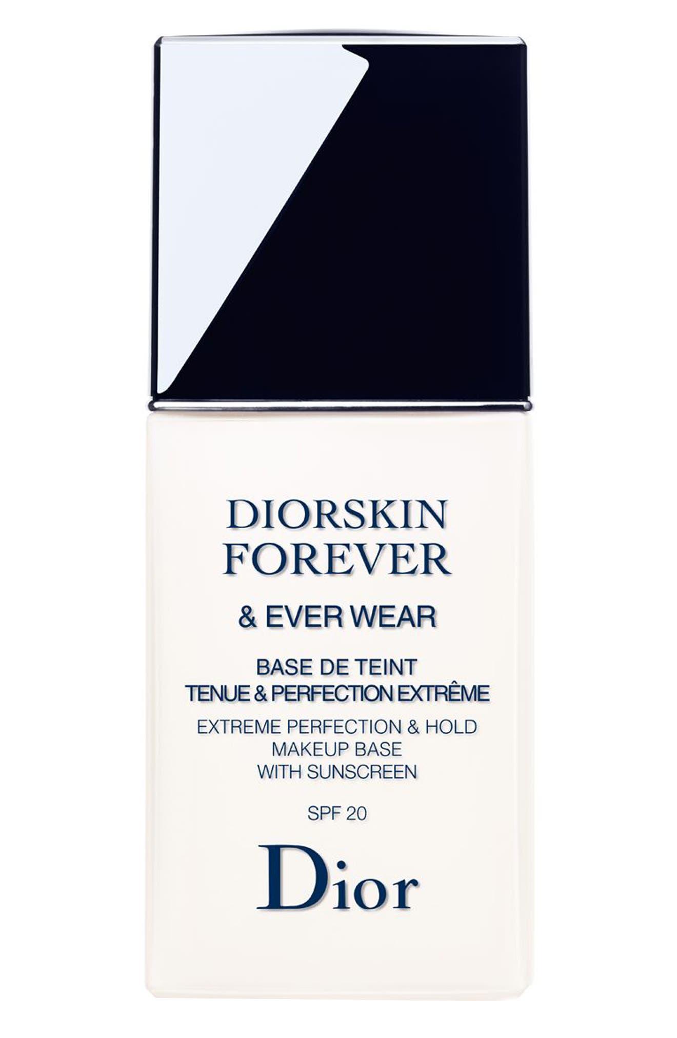 DIOR, Diorskin Forever & Ever Wear Makeup Primer SPF 20, Alternate thumbnail 4, color, NO COLOR