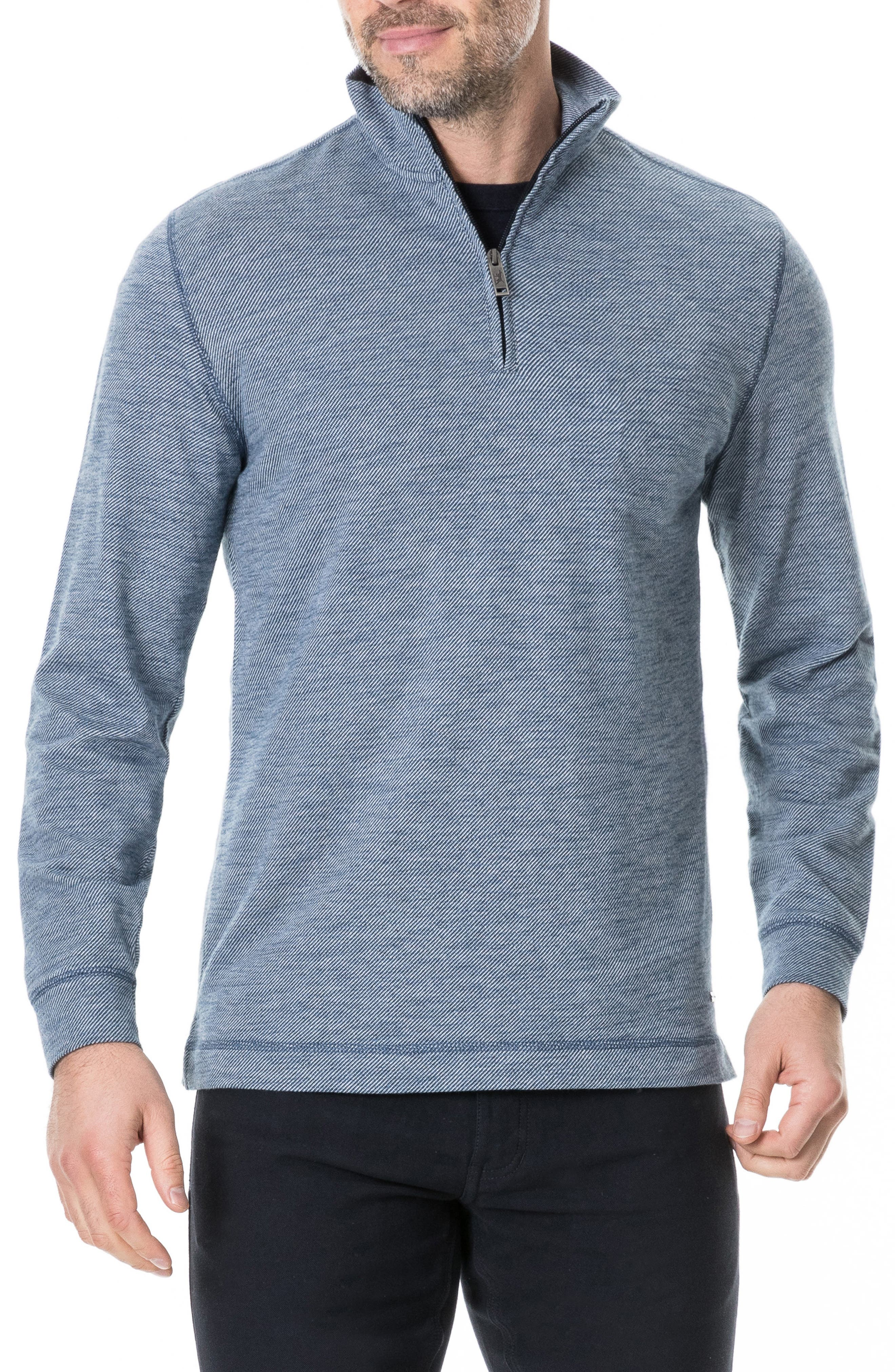 RODD & GUNN, Anvil Island Regular Fit Pullover, Main thumbnail 1, color, DENIM BLUE