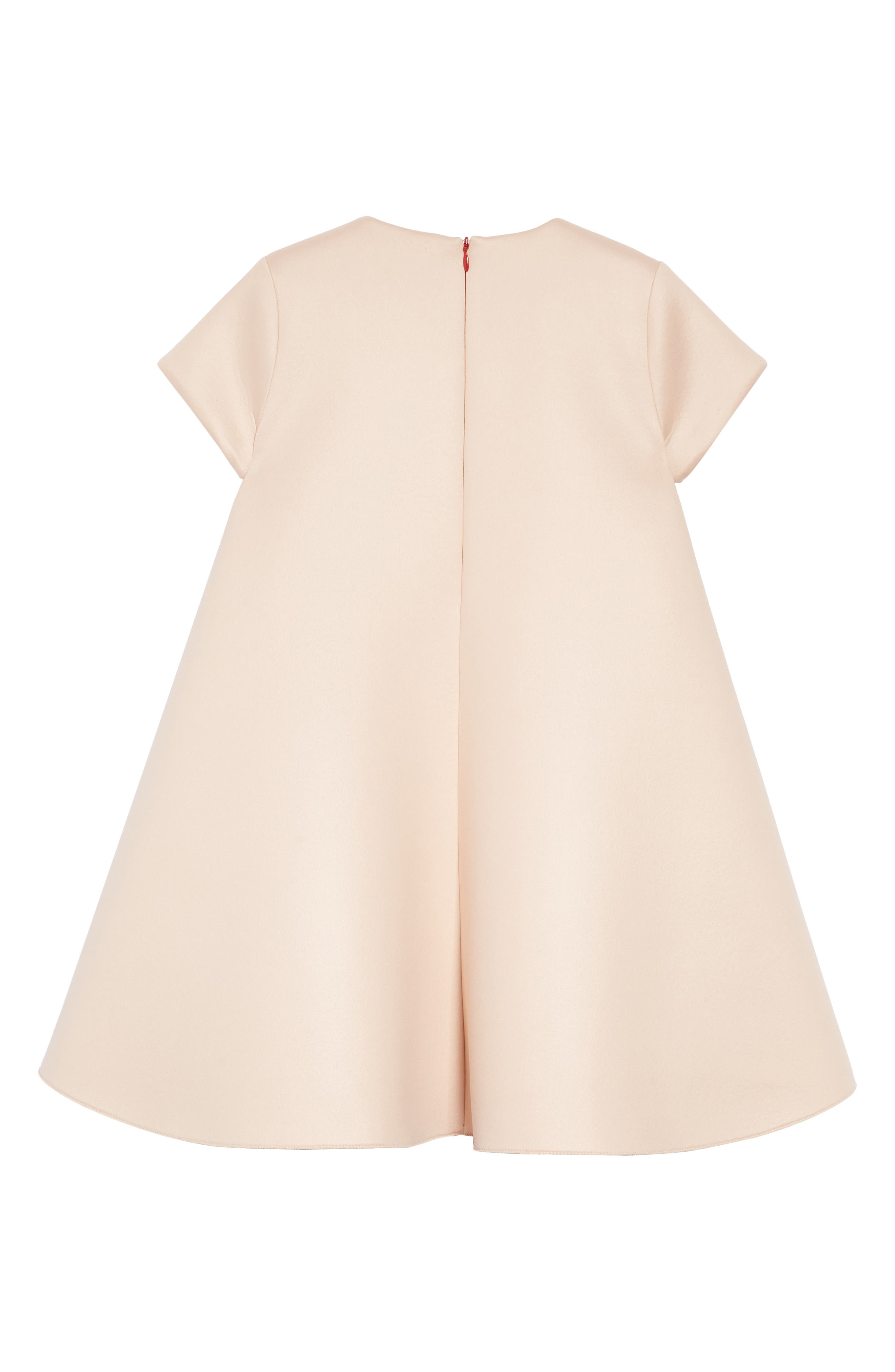 FENDI, Bow Detail Dress, Alternate thumbnail 2, color, F0JE6 PEACH