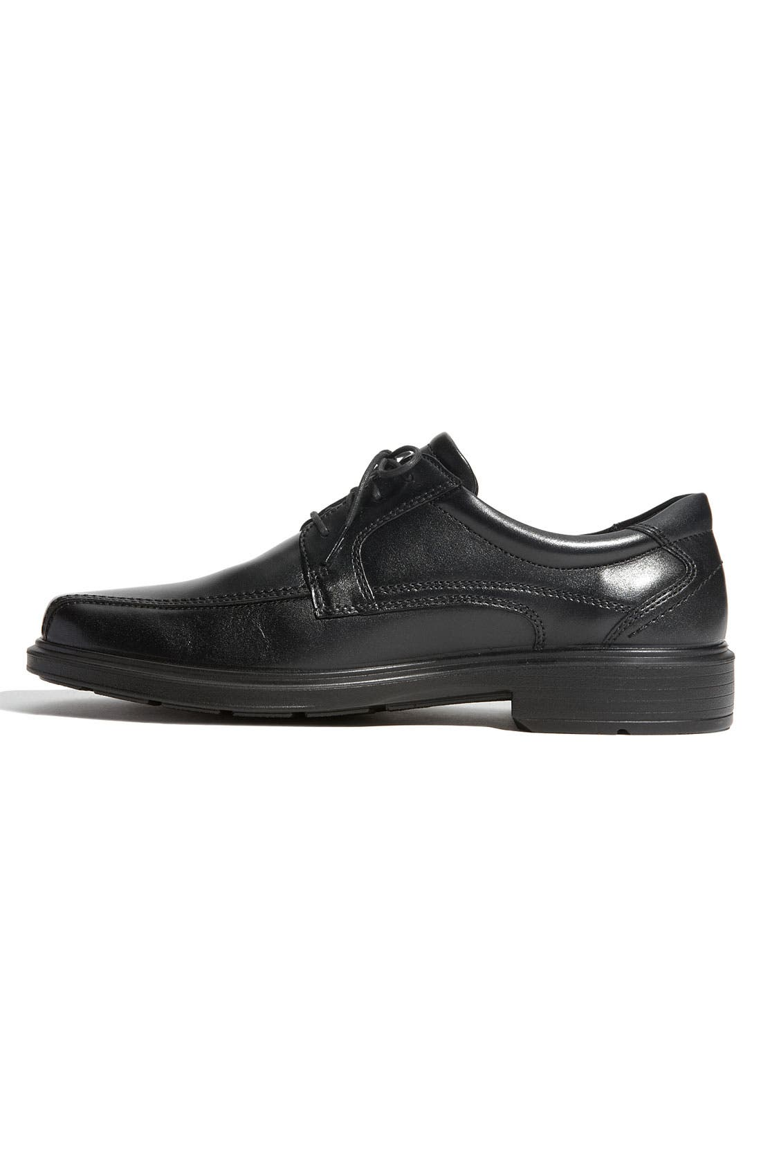 ECCO, 'Helsinki' Square Bike Toe Oxford, Alternate thumbnail 9, color, BLACK