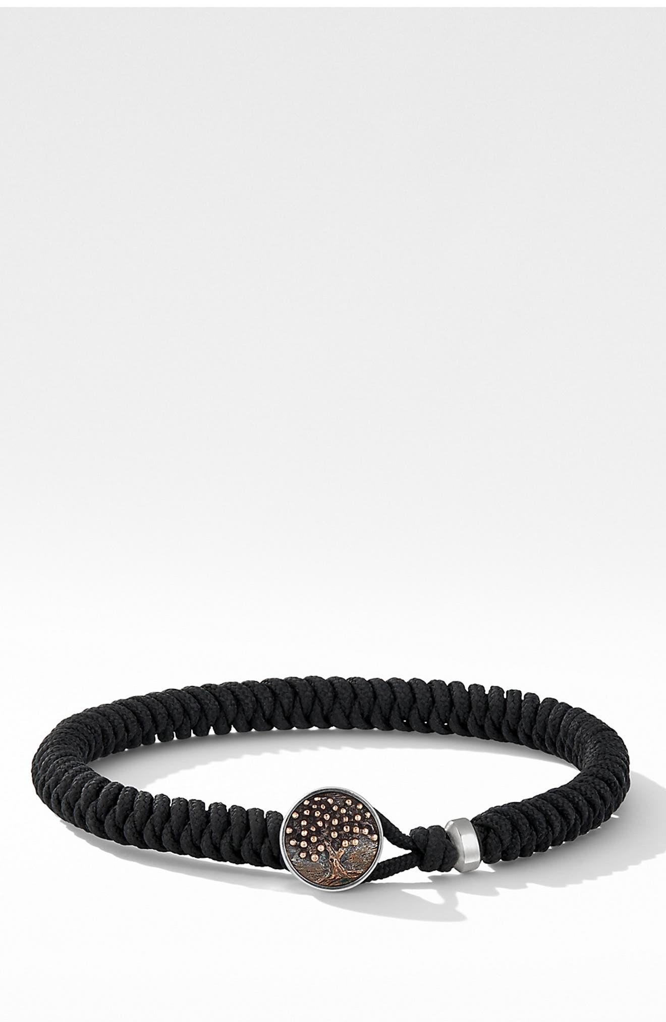 DAVID YURMAN, Woven Tree of Life Bracelet, Main thumbnail 1, color, BLACK