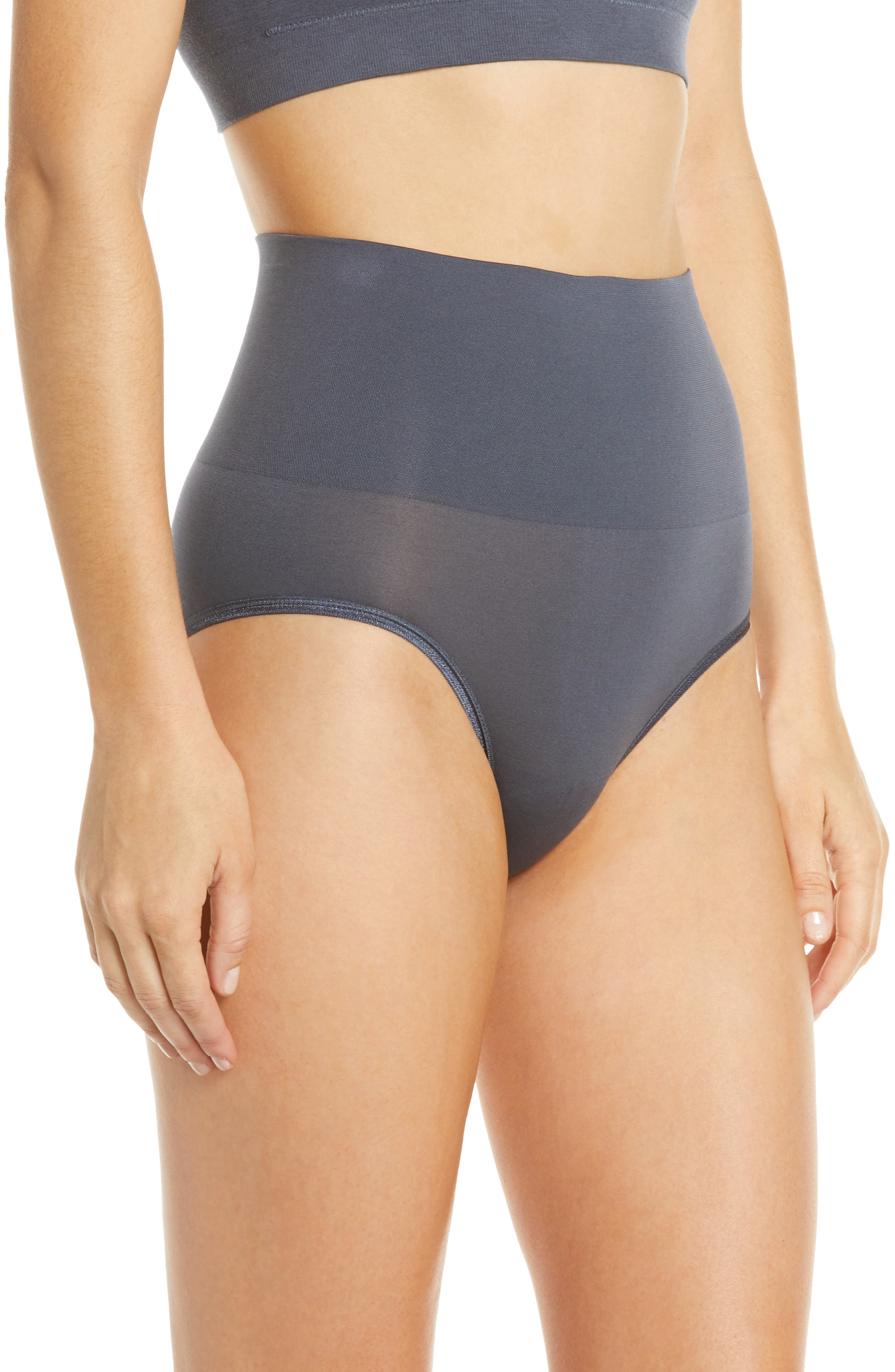 YUMMIE, Ultralight Seamless Shaping Briefs, Alternate thumbnail 3, color, OMBRE BLUE