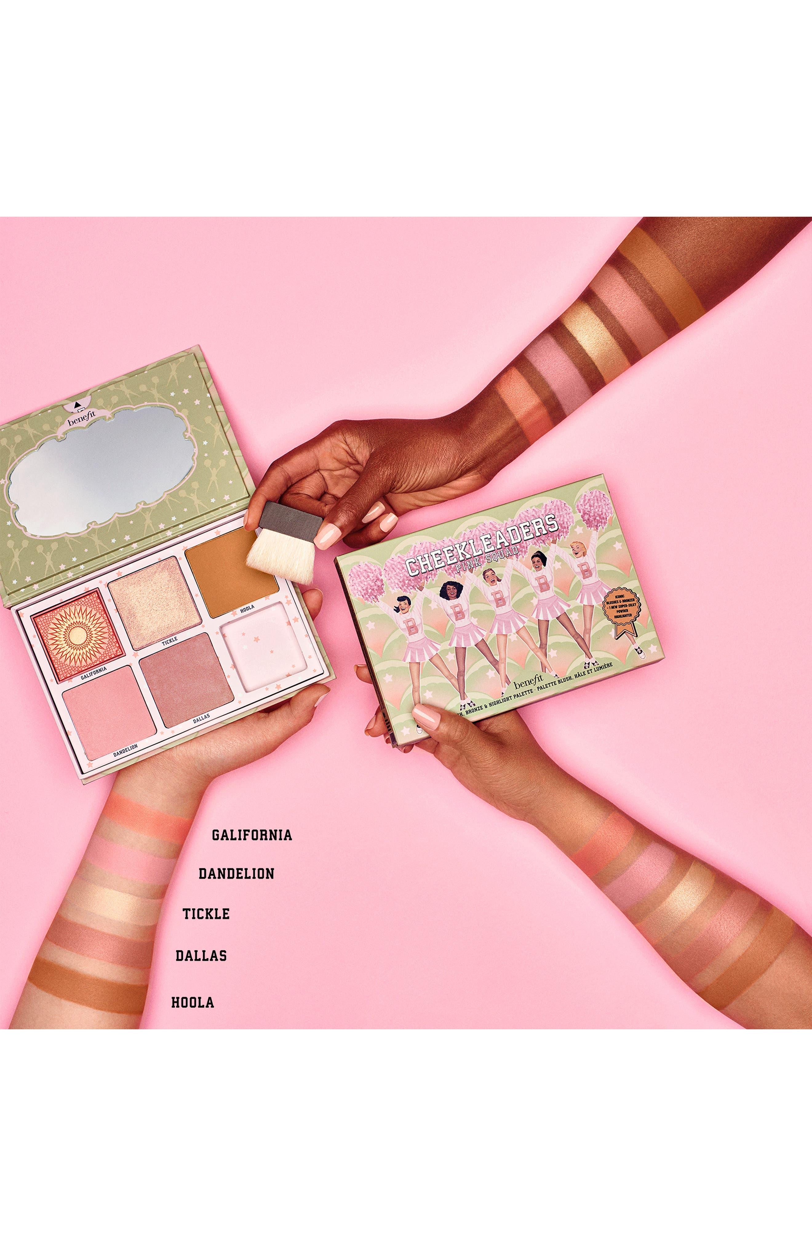 BENEFIT COSMETICS, Benefit Cheekleaders Pink Squad Cheek Palette, Alternate thumbnail 2, color, NO COLOR