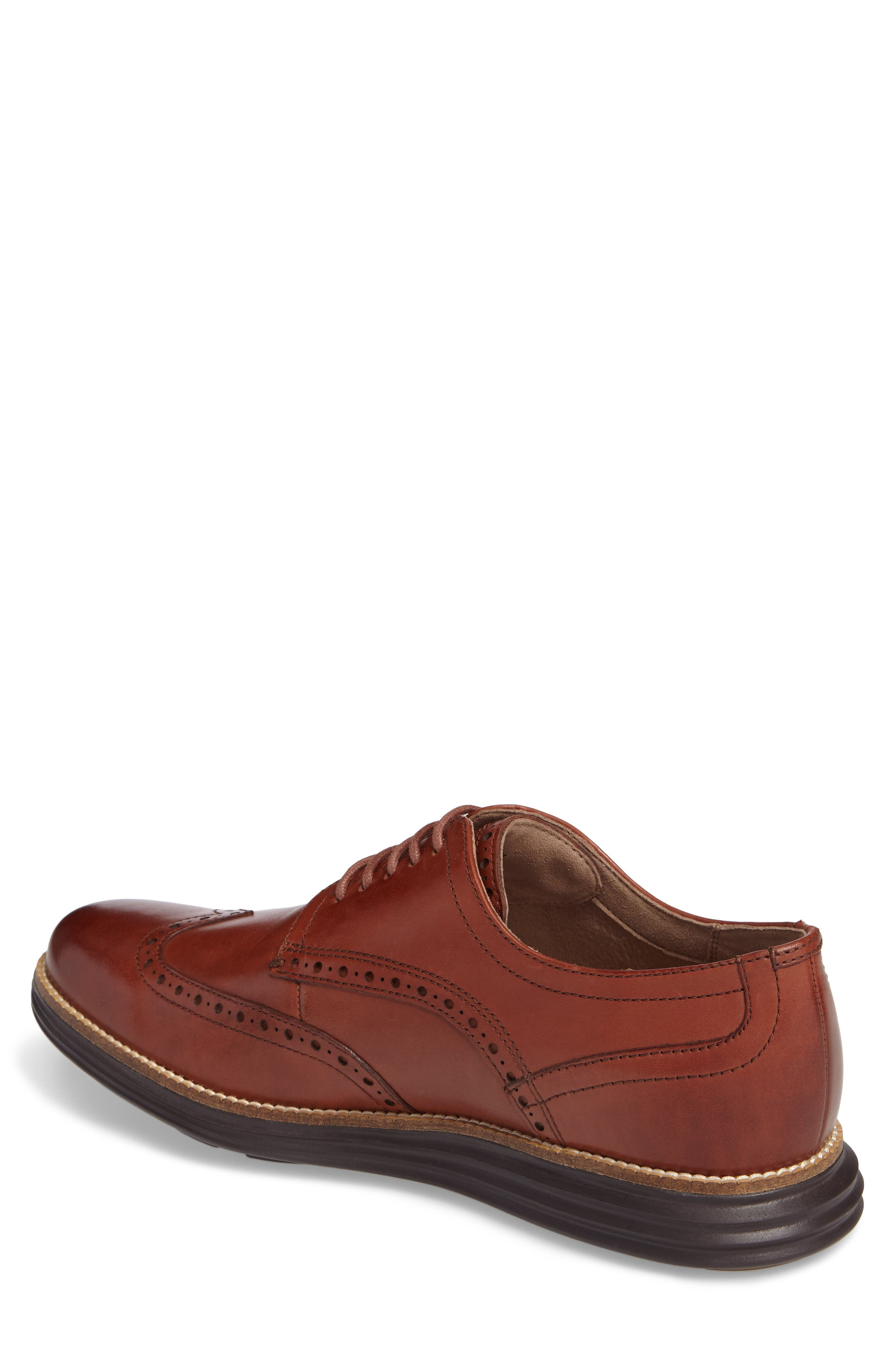 COLE HAAN, Original Grand Wingtip, Alternate thumbnail 2, color, WOODBURY/ JAVA LEATHER