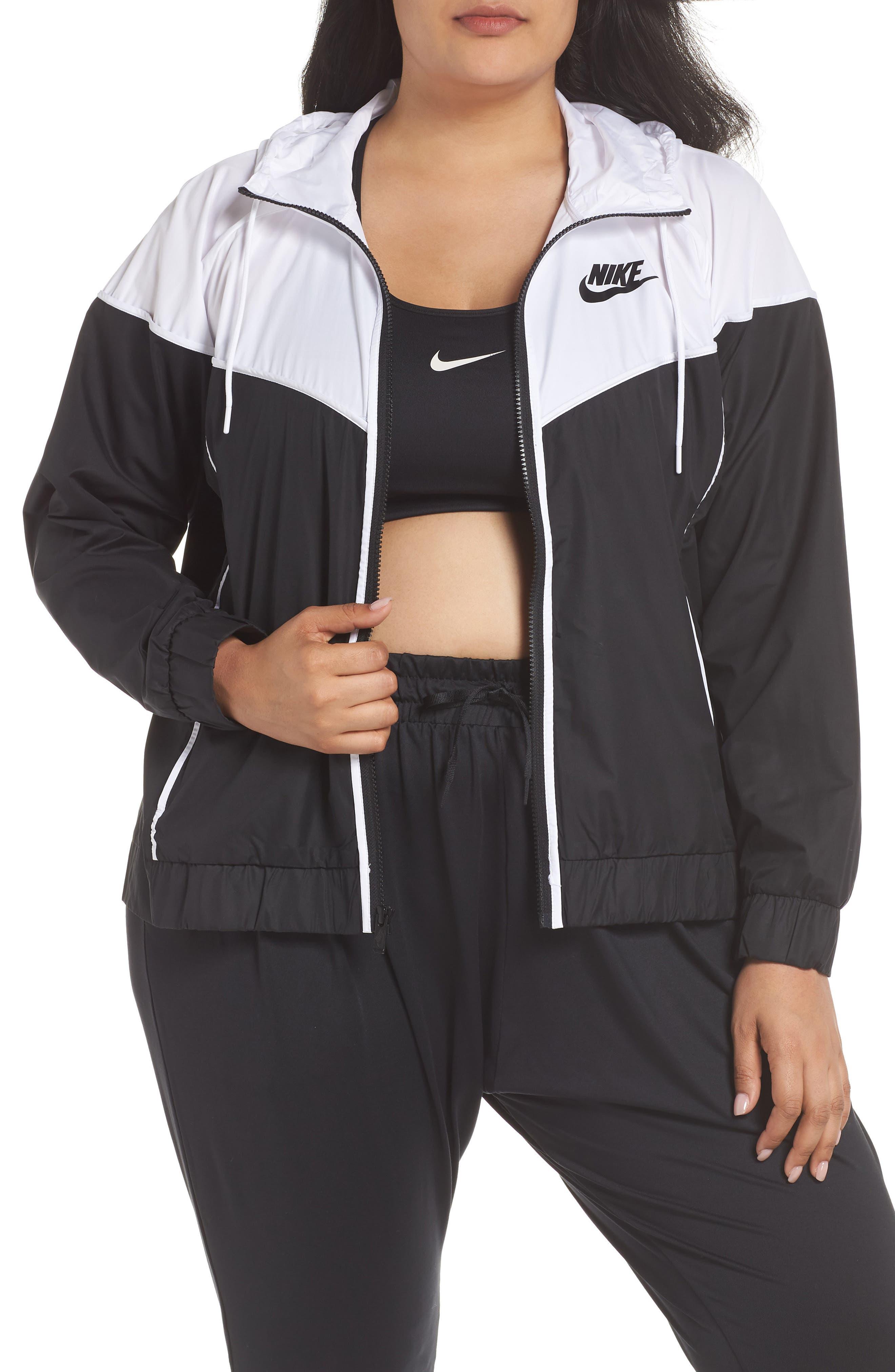 NIKE, Sportswear Windrunner Jacket, Main thumbnail 1, color, BLACK/ WHITE/ BLACK