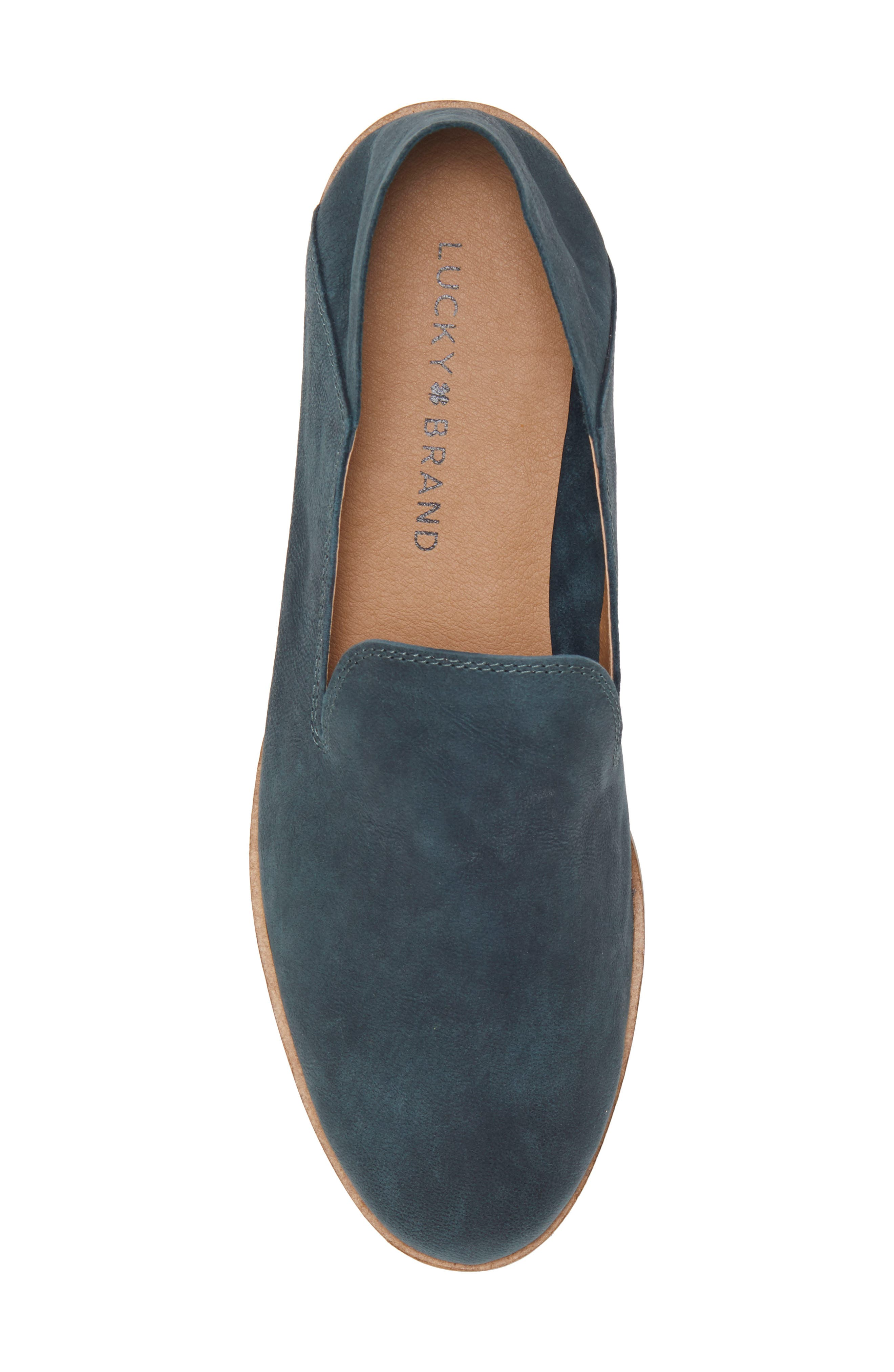 LUCKY BRAND, Cahill Flat, Alternate thumbnail 6, color, KELP LEATHER