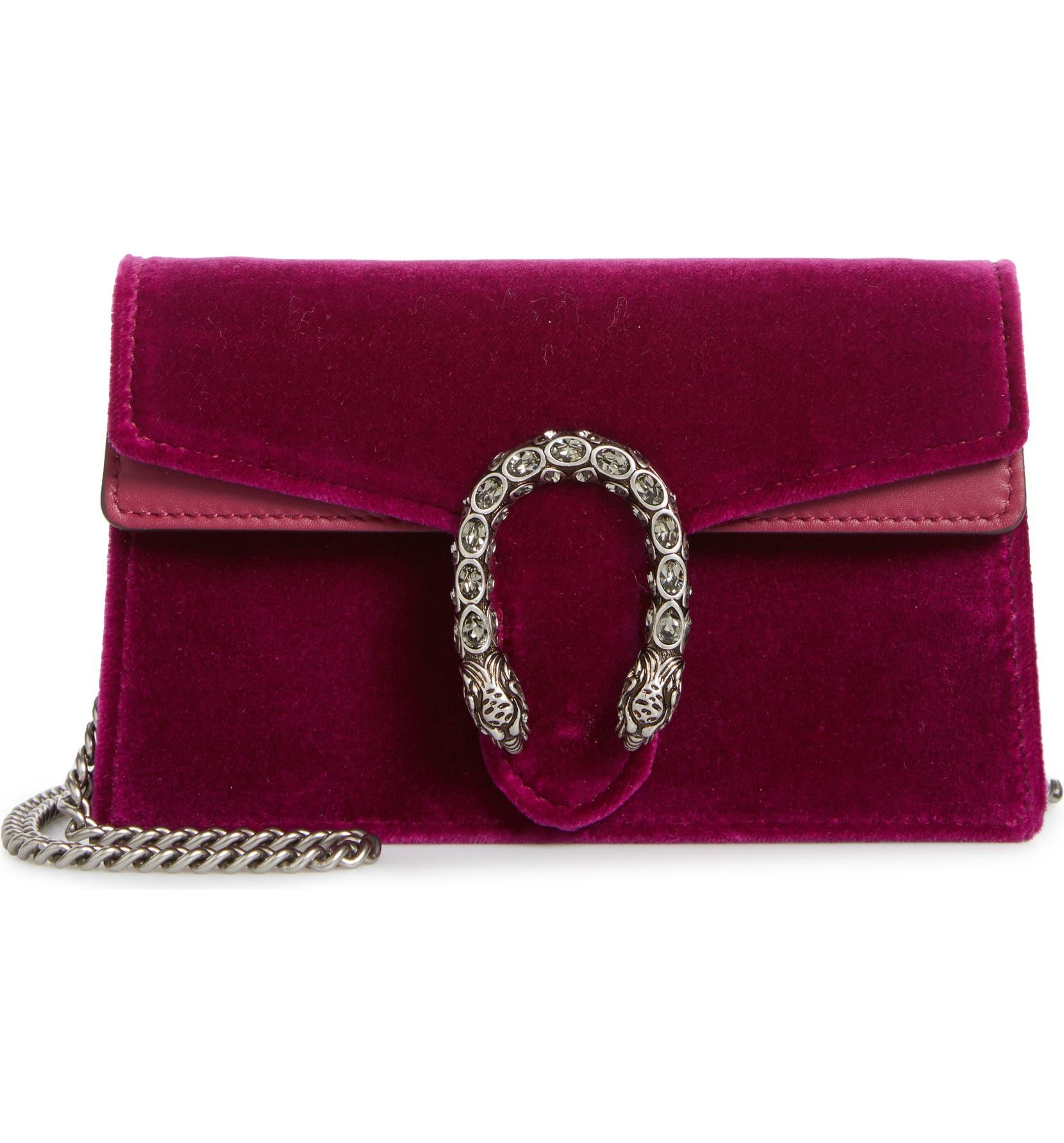 c074fb7d75f Gucci Super Mini Dionysus Velvet Shoulder Bag