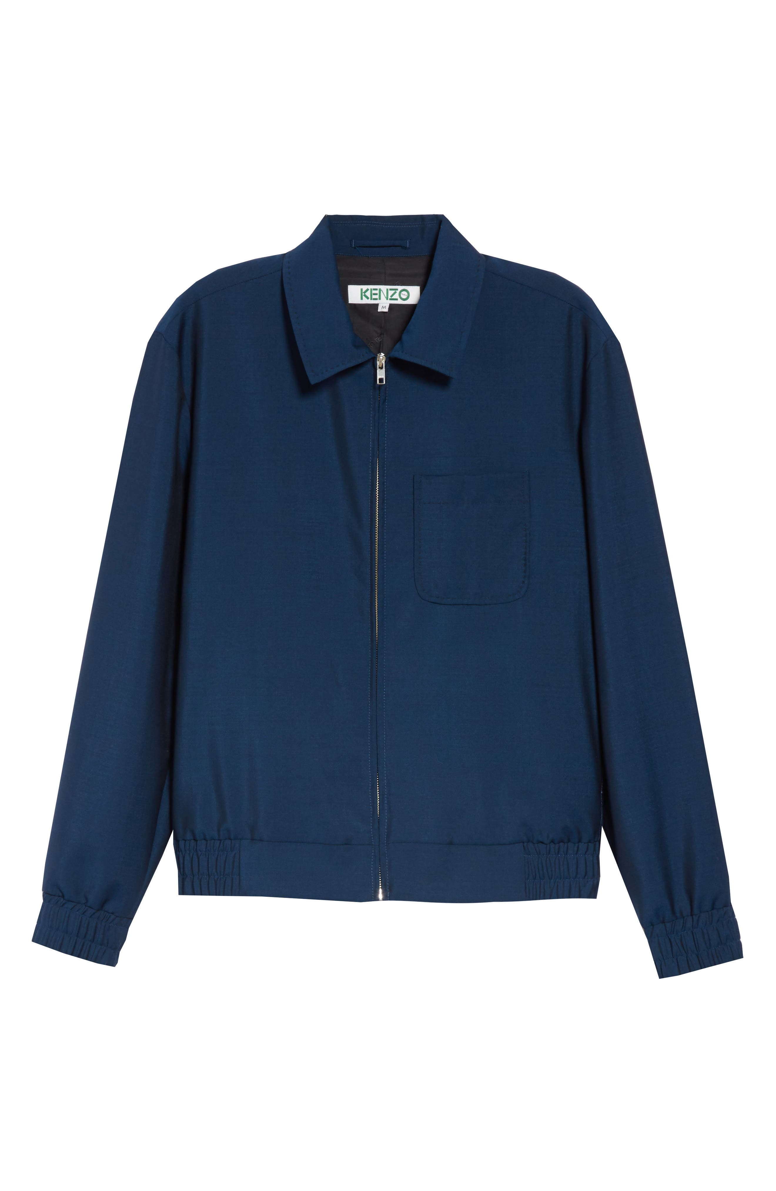 KENZO, Zip Jacket, Alternate thumbnail 6, color, DUCK BLUE