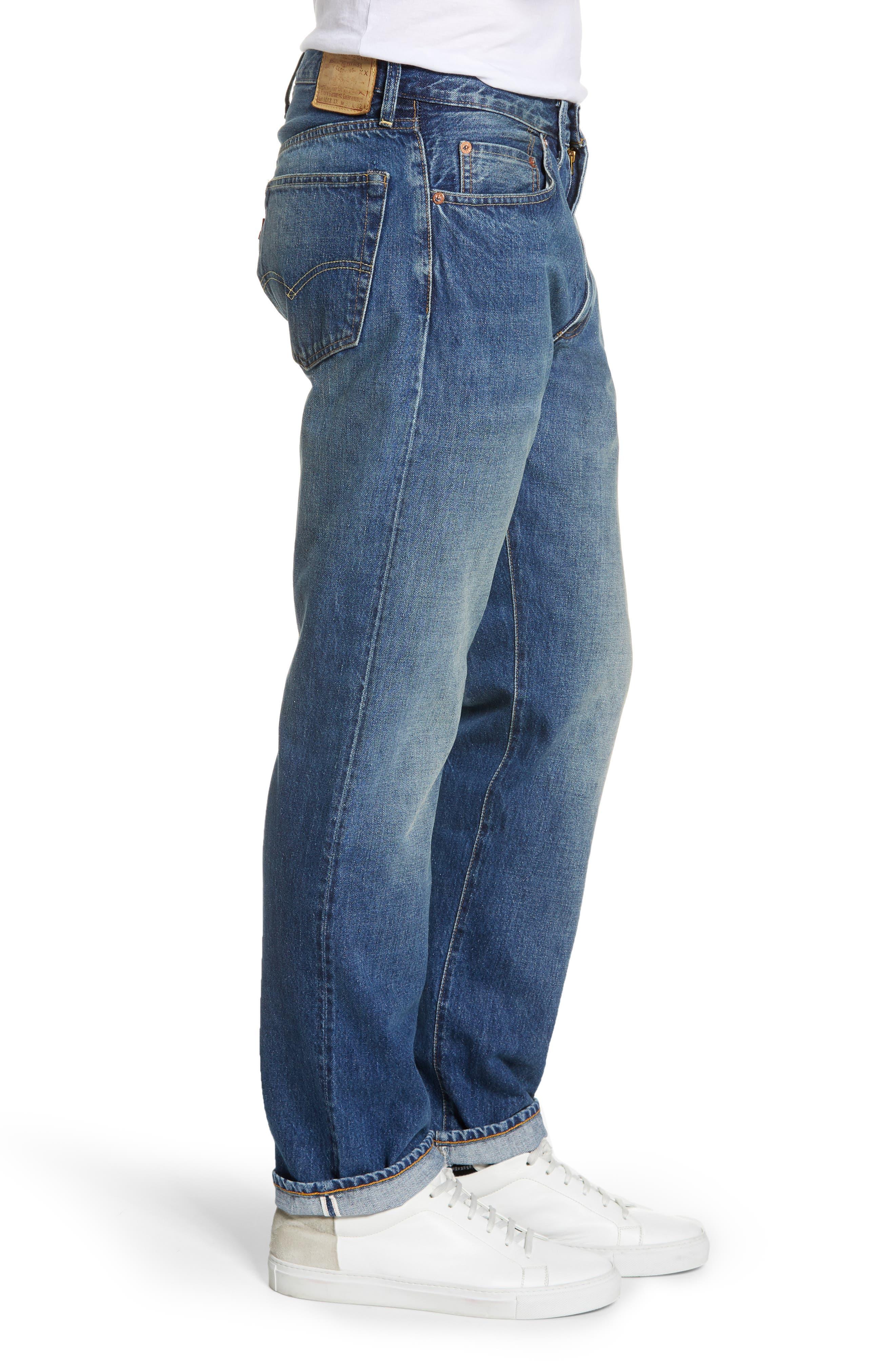 LEVI'S<SUP>®</SUP> VINTAGE CLOTHING, 1954 501<sup>®</sup> Straight Leg Jeans, Alternate thumbnail 4, color, PINWHEEL