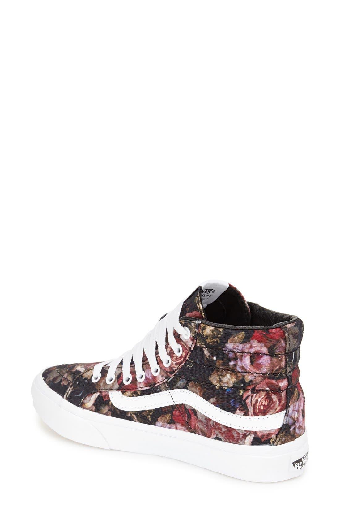 VANS, Sk-8 Hi Slim Sneaker, Alternate thumbnail 2, color, 001