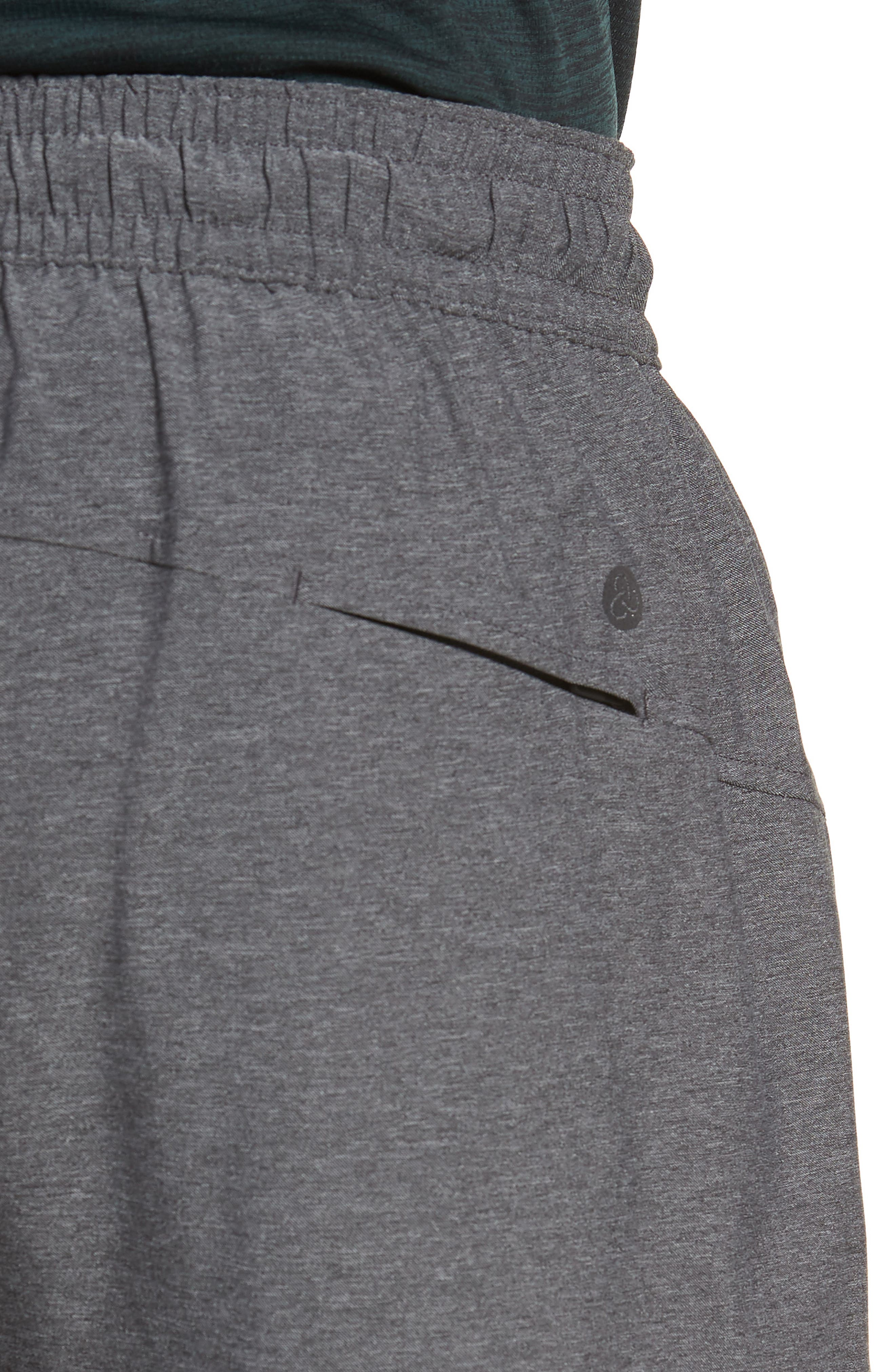 ZELLA, Tapered Stretch Track Pants, Alternate thumbnail 5, color, GREY OBSIDIAN MELANGE