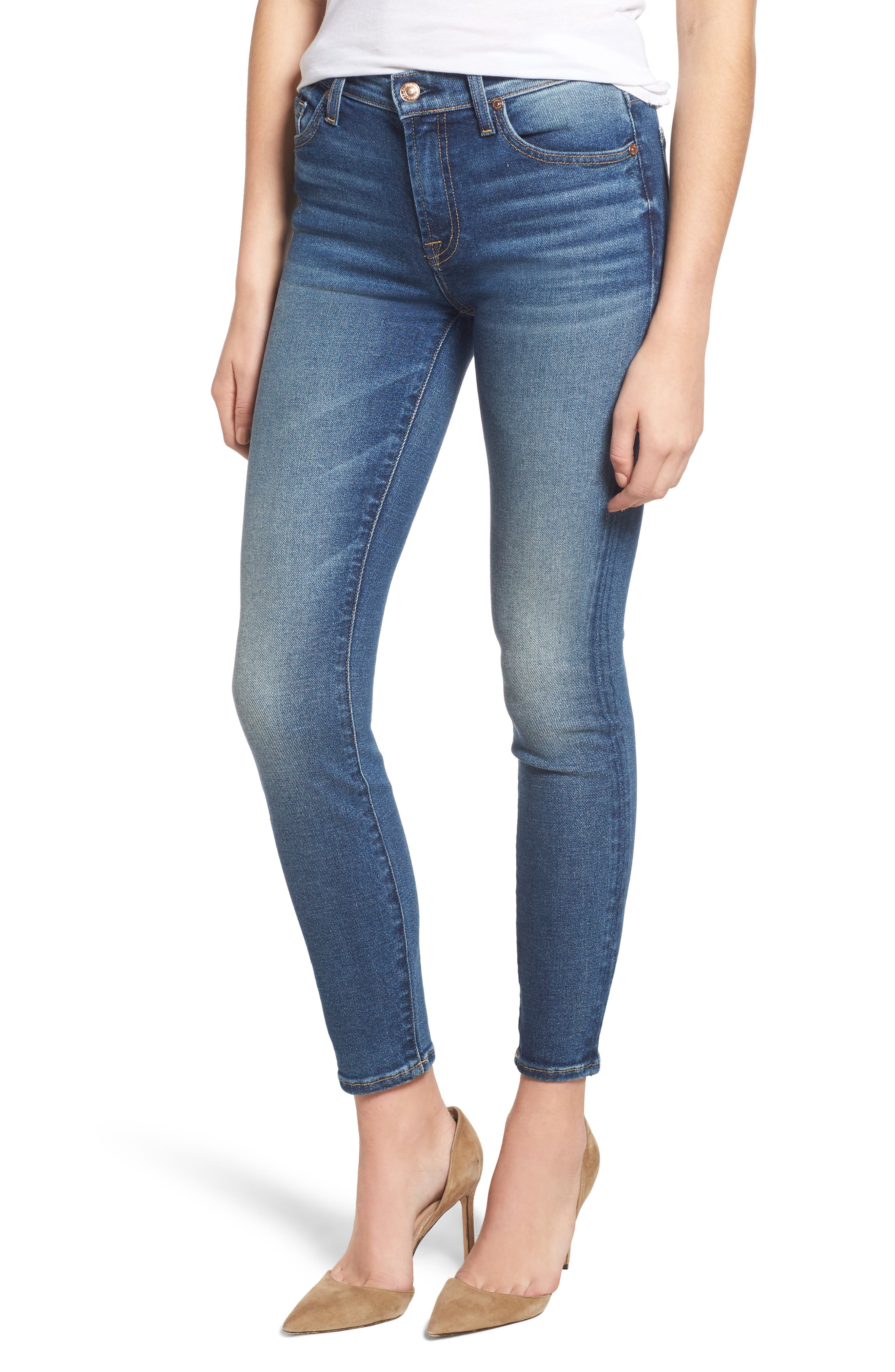 7 FOR ALL MANKIND<SUP>®</SUP>, Luxe Vintage The Ankle Skinny Jeans, Main thumbnail 1, color, LUXE VINTAGE FEMME