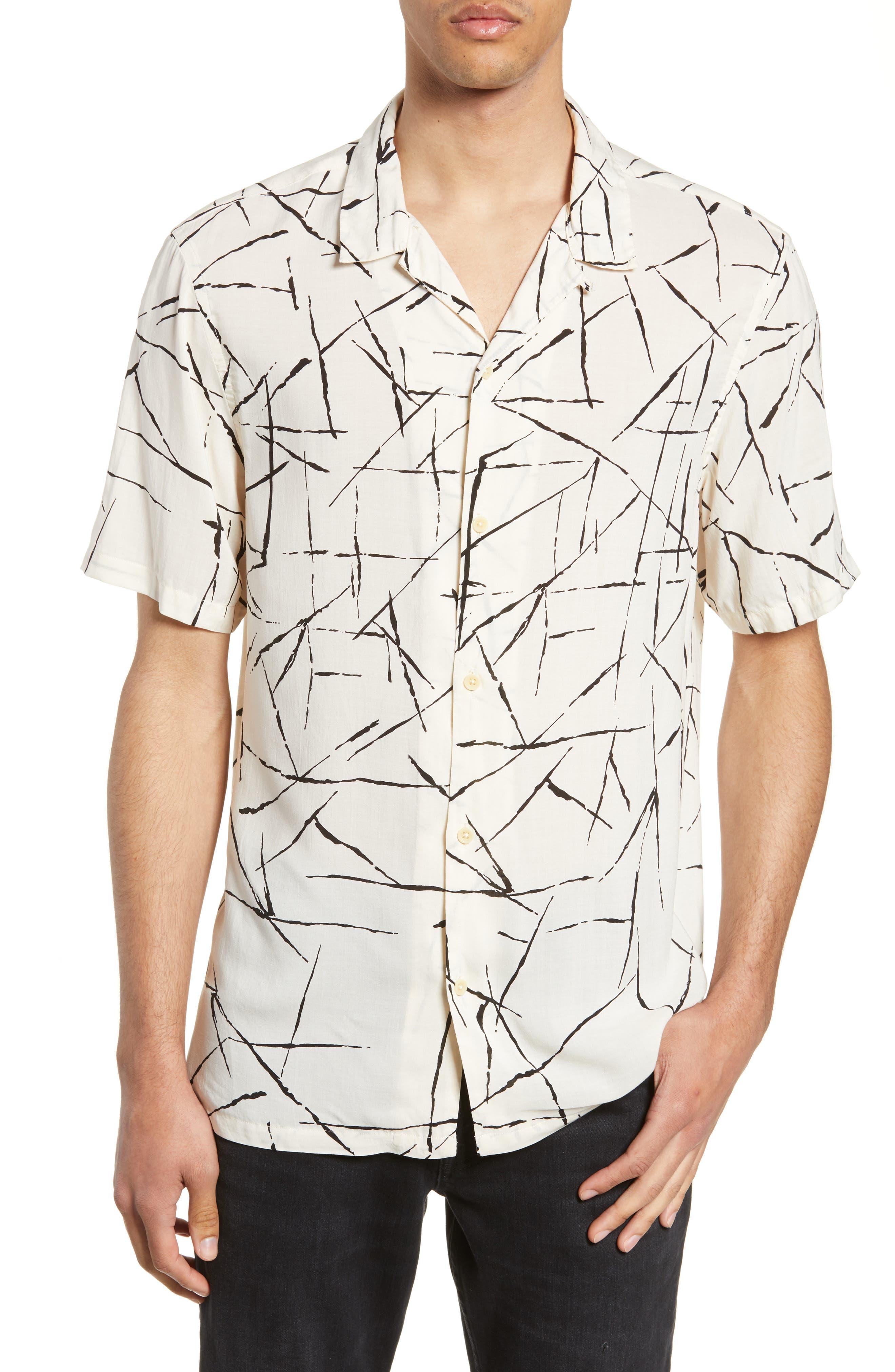 ALLSAINTS Burma Classic Shirt, Main, color, ECRU WHITE