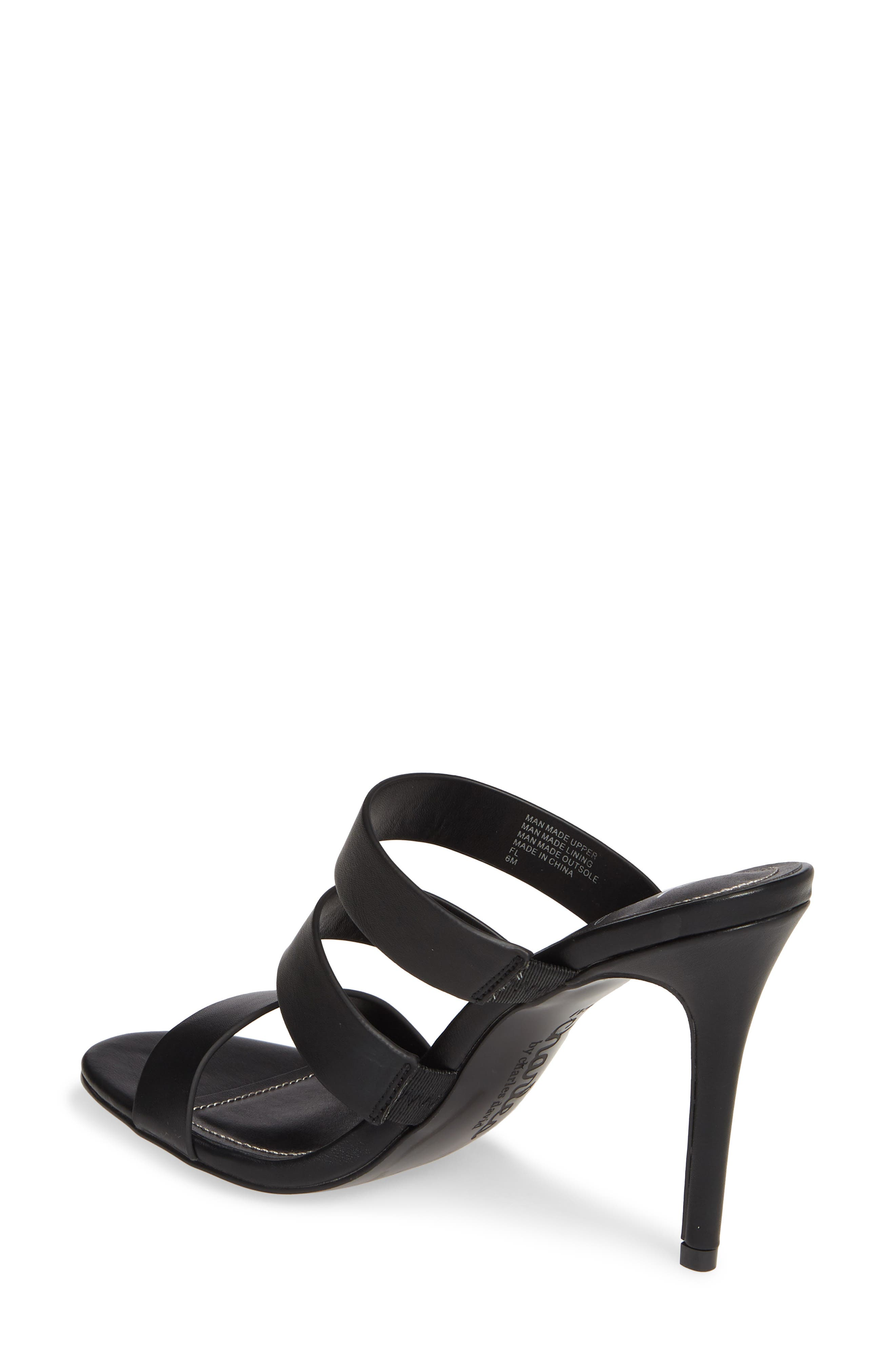 CHARLES BY CHARLES DAVID, Rivalary Slide Sandal, Alternate thumbnail 2, color, BLACK FAUX LEATHER