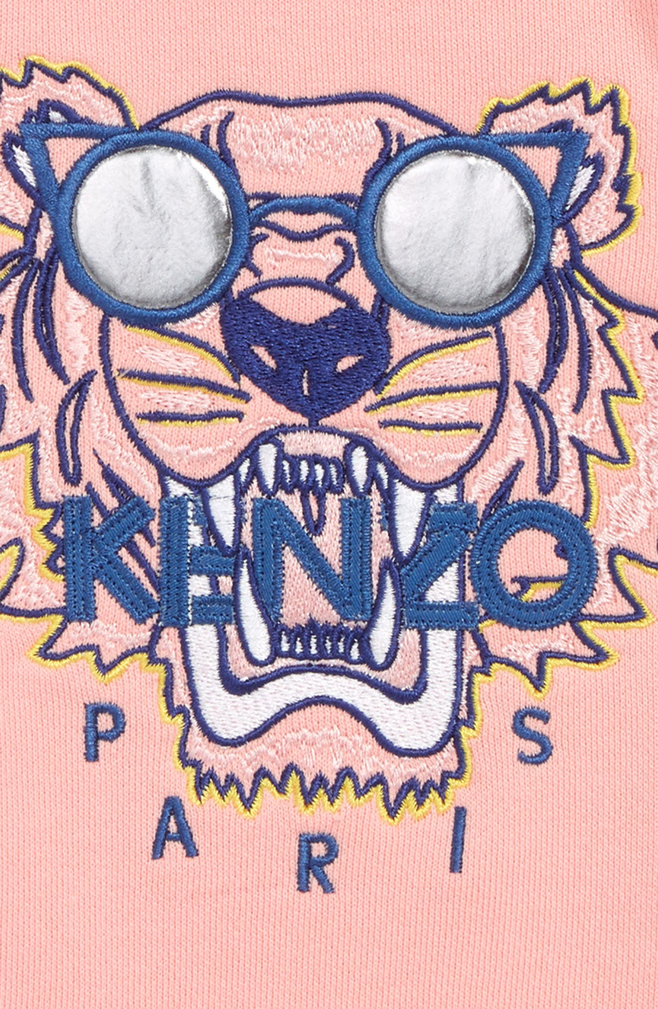 KENZO, Tiger Graphic Dress, Alternate thumbnail 3, color, MIDDLE PINK
