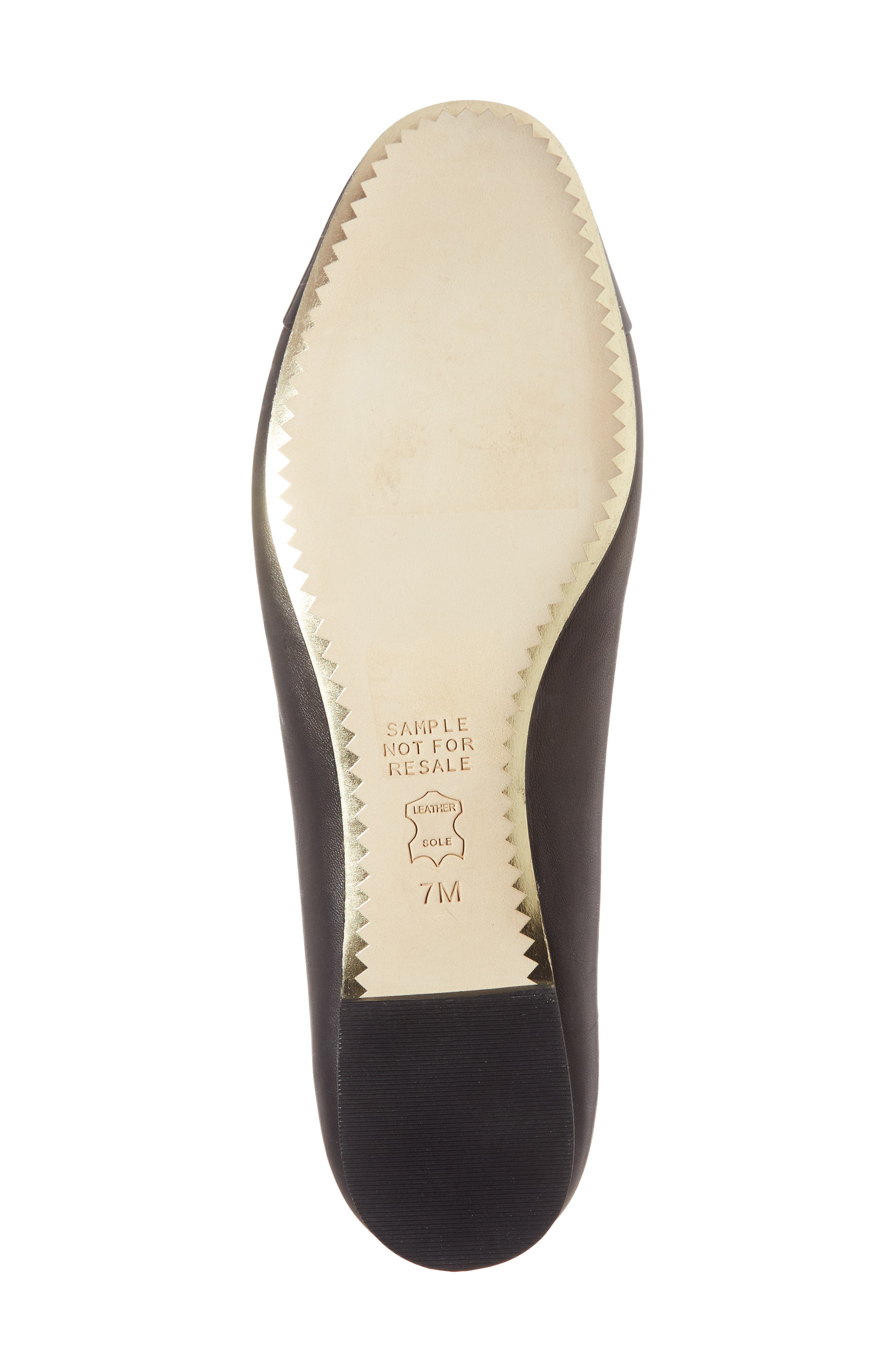 TORY BURCH, Chelsea Cap Toe Ballet Flat, Alternate thumbnail 6, color, BLACK