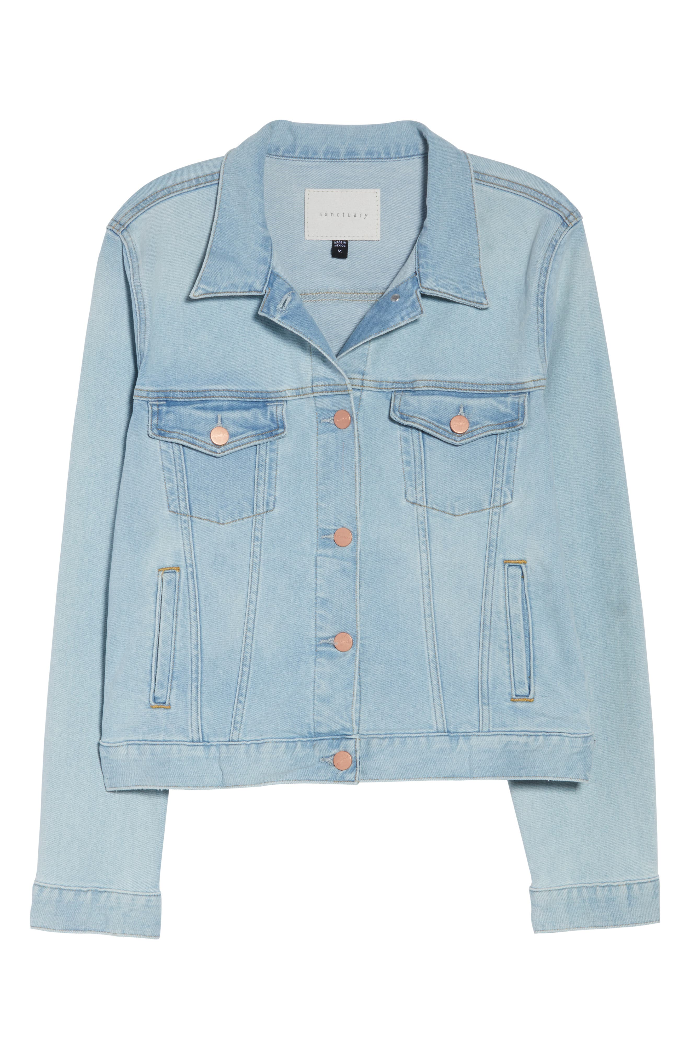 SANCTUARY, Kyle Denim Jacket, Alternate thumbnail 5, color, 450