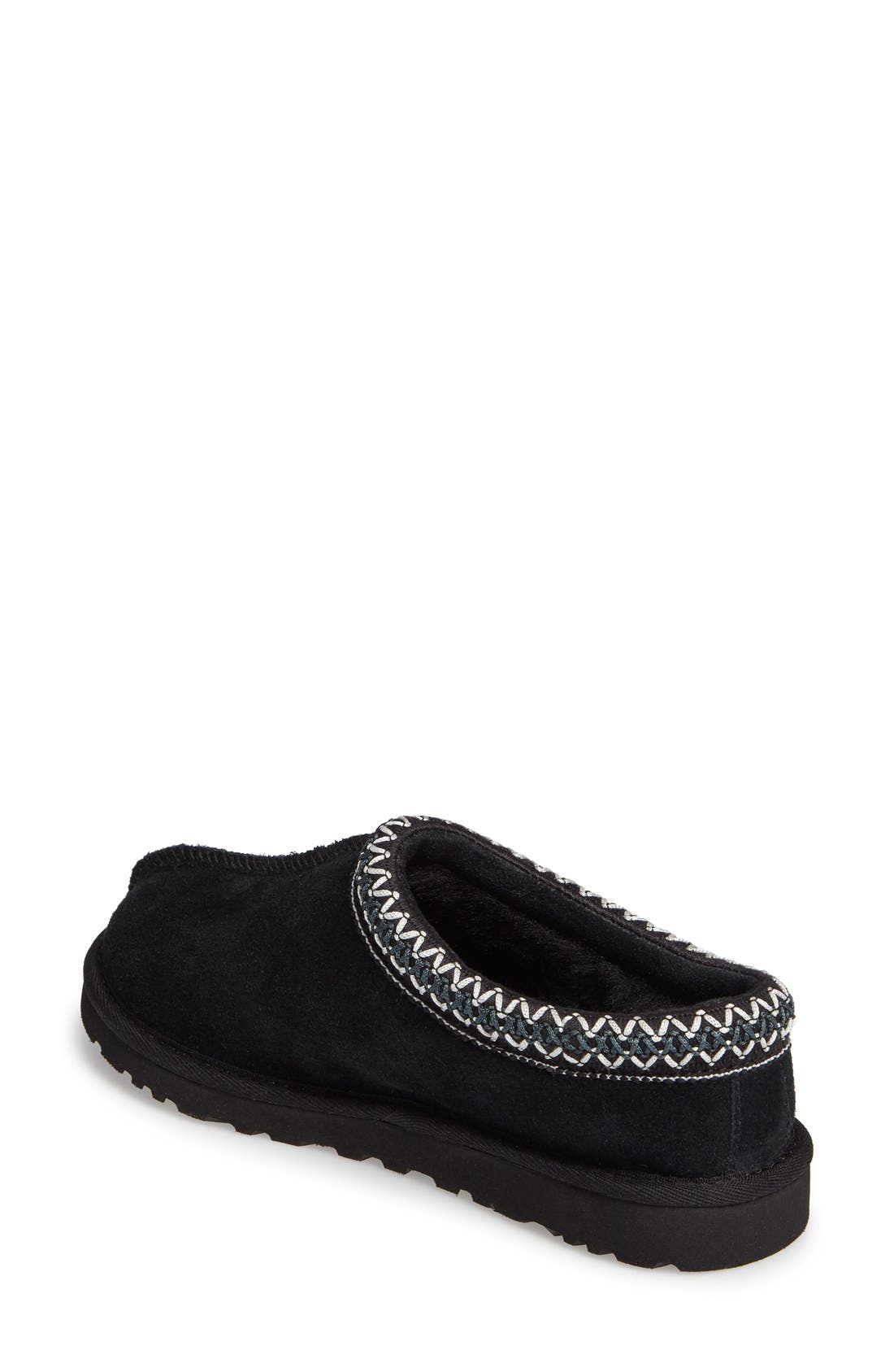 UGG<SUP>®</SUP>, 'Tasman' Slipper, Alternate thumbnail 6, color, BLACK