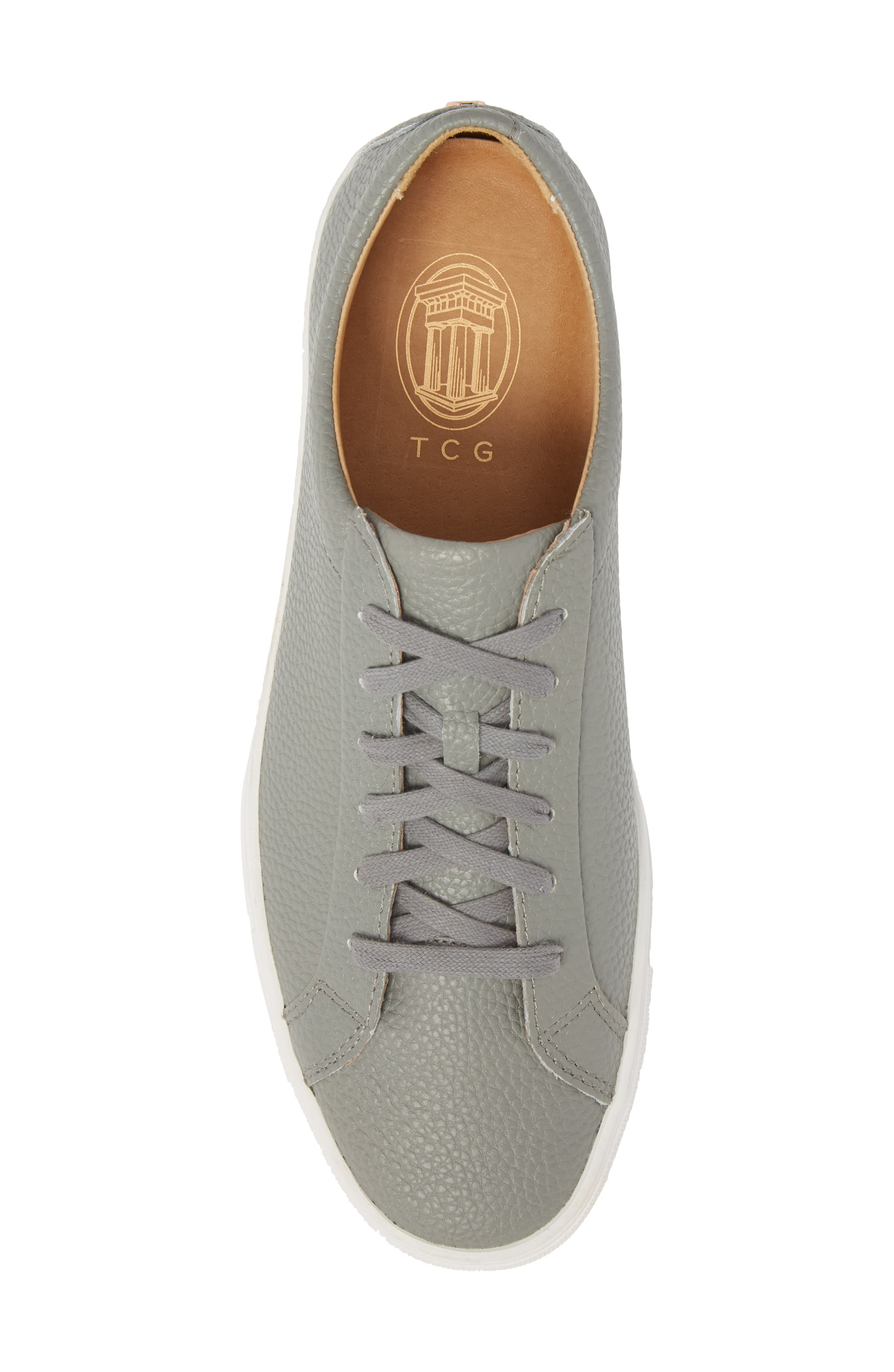TCG, Kennedy Low Top Sneaker, Alternate thumbnail 5, color, RIVER ROCK LEATHER