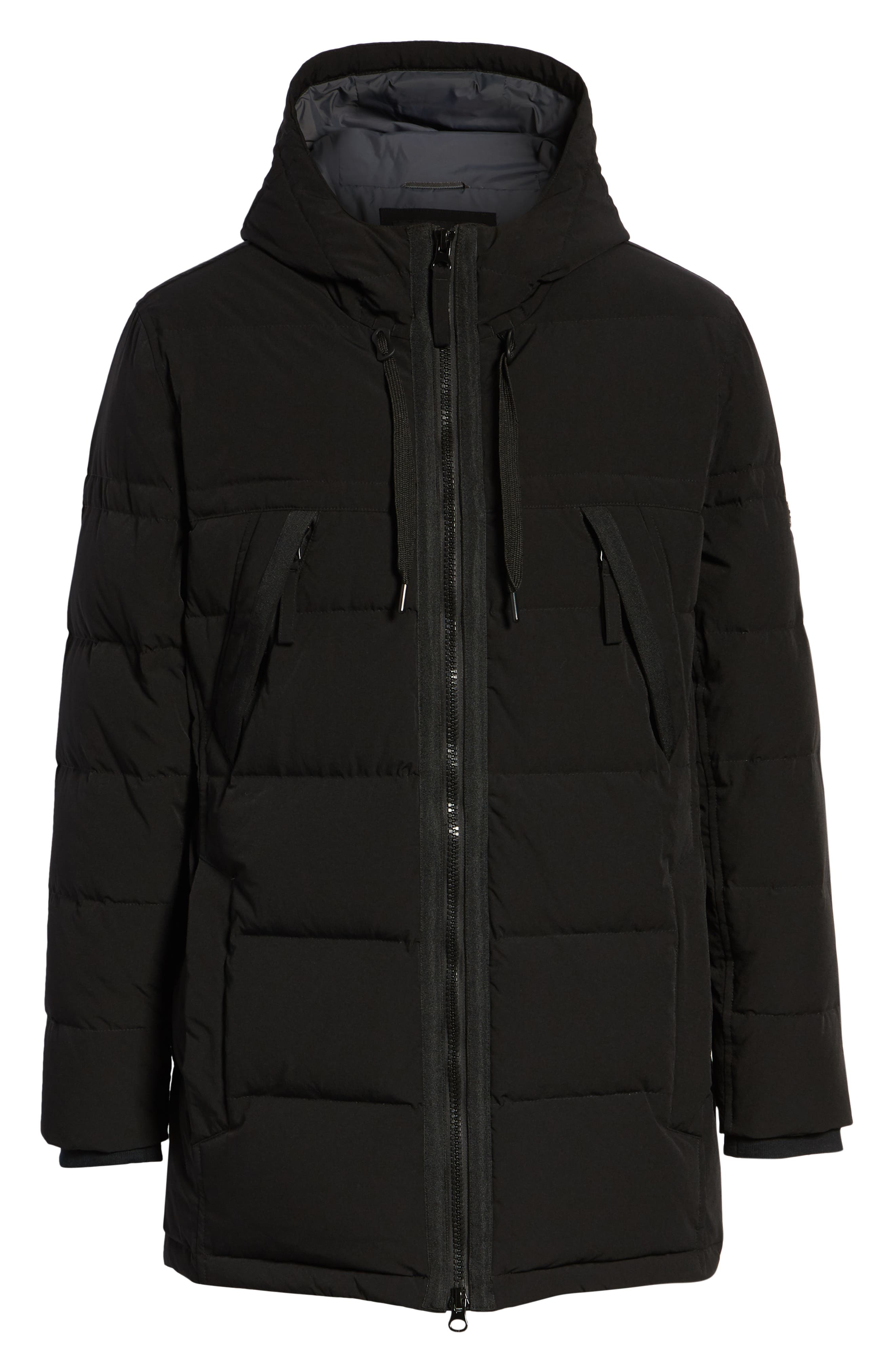 MARC NEW YORK, Holden Down & Feather Parka, Alternate thumbnail 5, color, BLACK