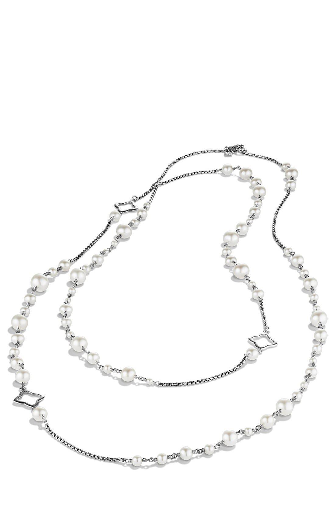 DAVID YURMAN, Pearl Chain Necklace, Alternate thumbnail 3, color, PEARL