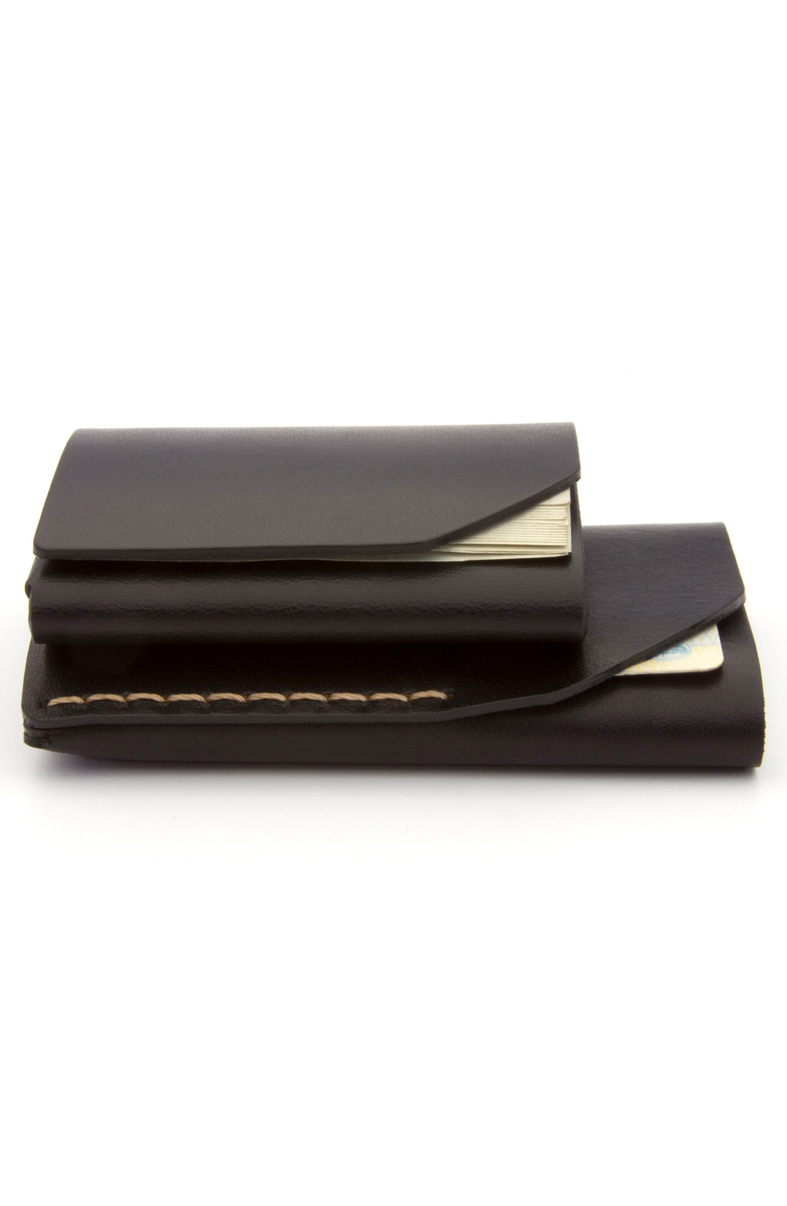 EZRA ARTHUR, Cash Fold Wallet, Alternate thumbnail 3, color, JET TOP STITCH