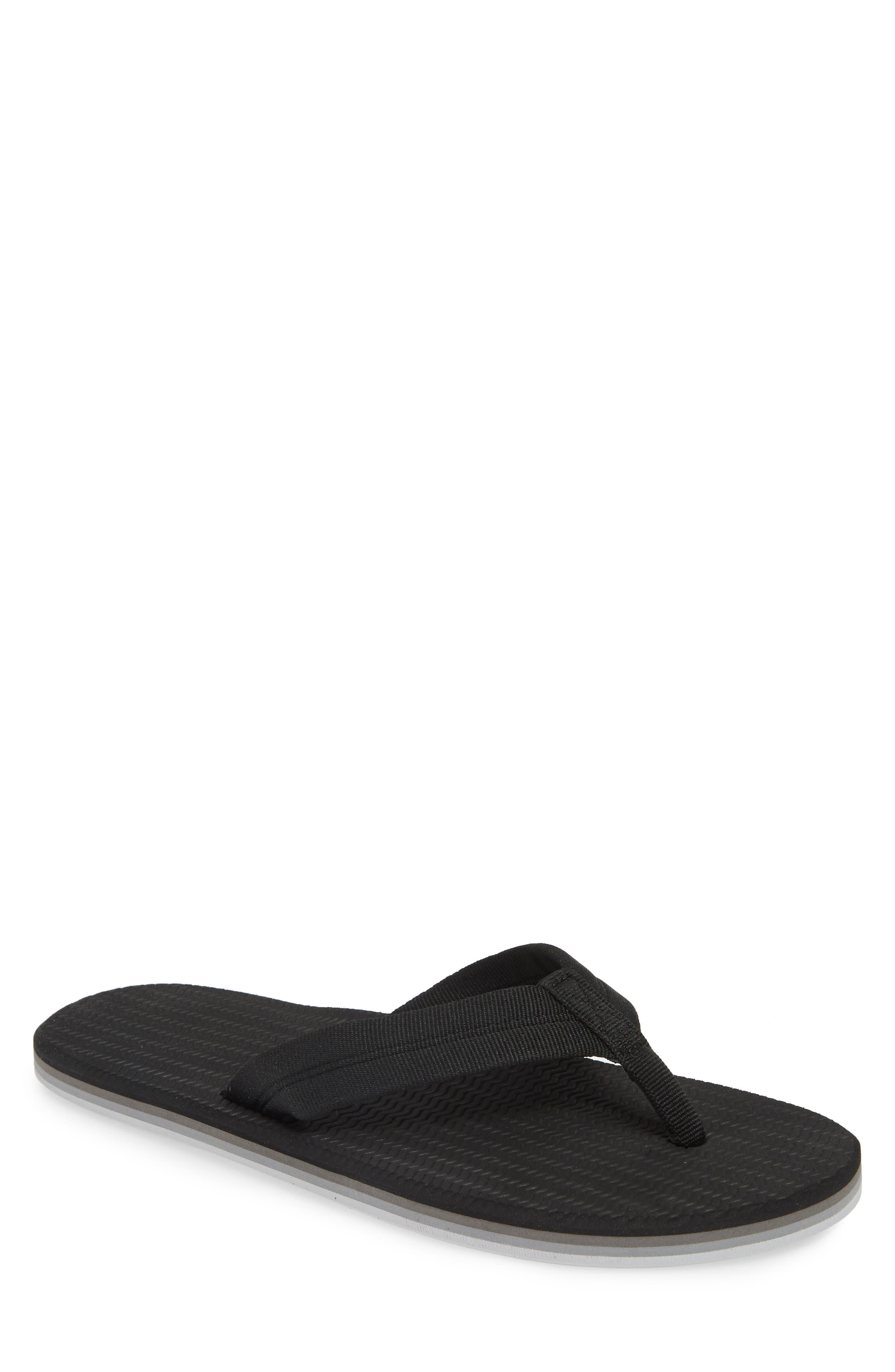 HARI MARI 'Dunes' Flip Flop, Main, color, BLACK