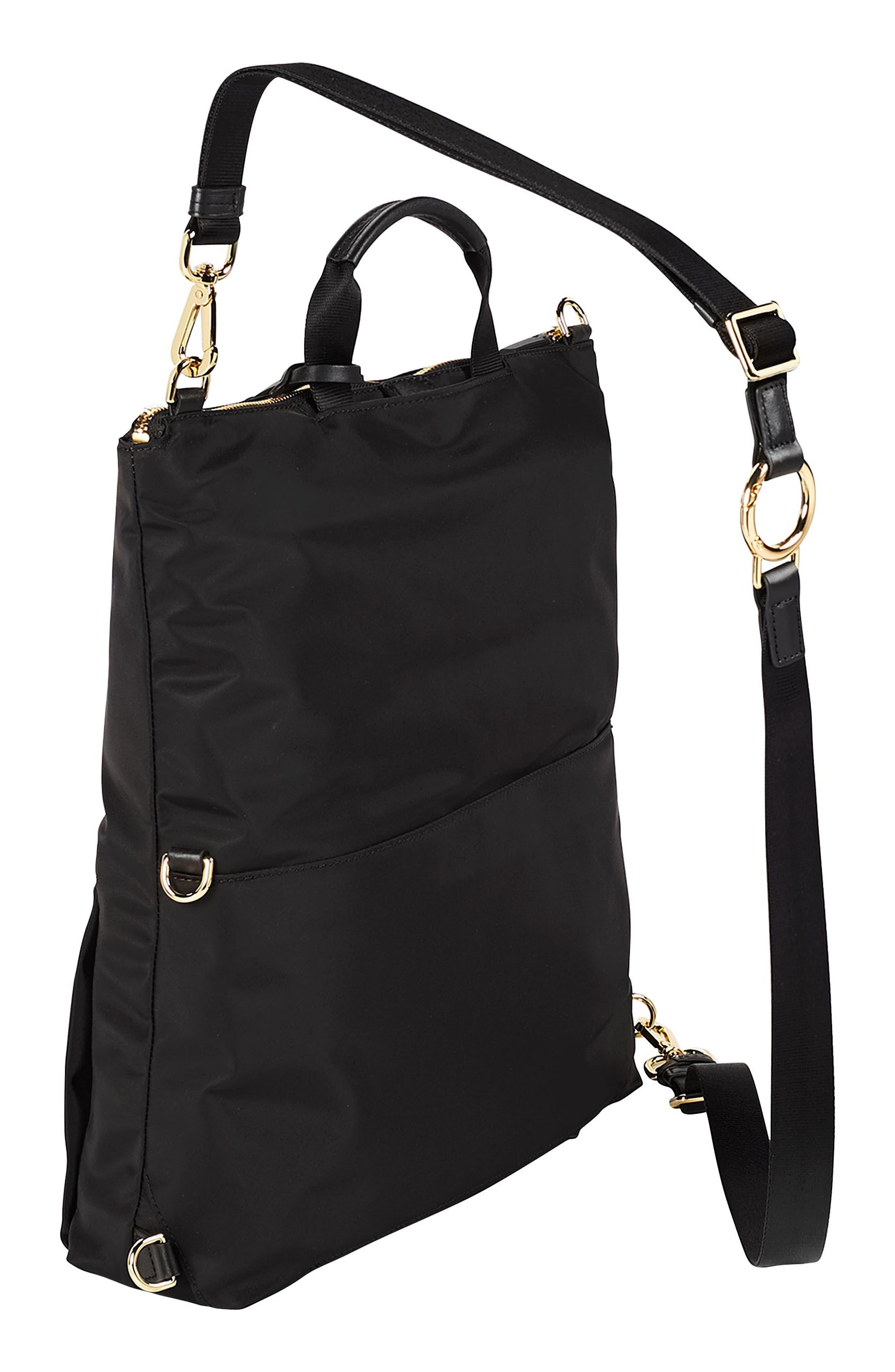 TUMI, Voyageur Jena Nylon Convertible Backpack, Alternate thumbnail 3, color, BLACK