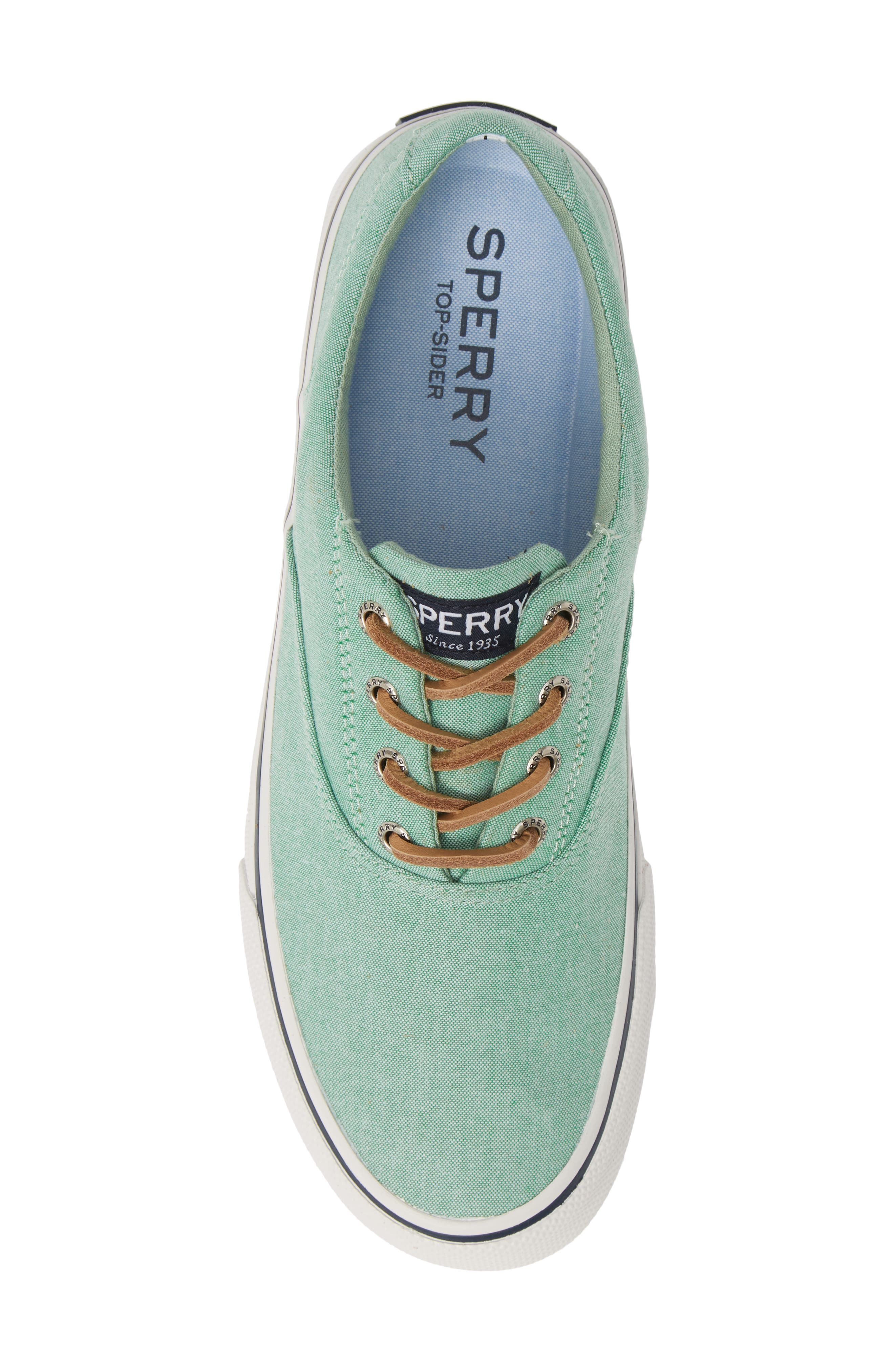 SPERRY, Striper II CVO Oxford Sneaker, Alternate thumbnail 5, color, GREEN