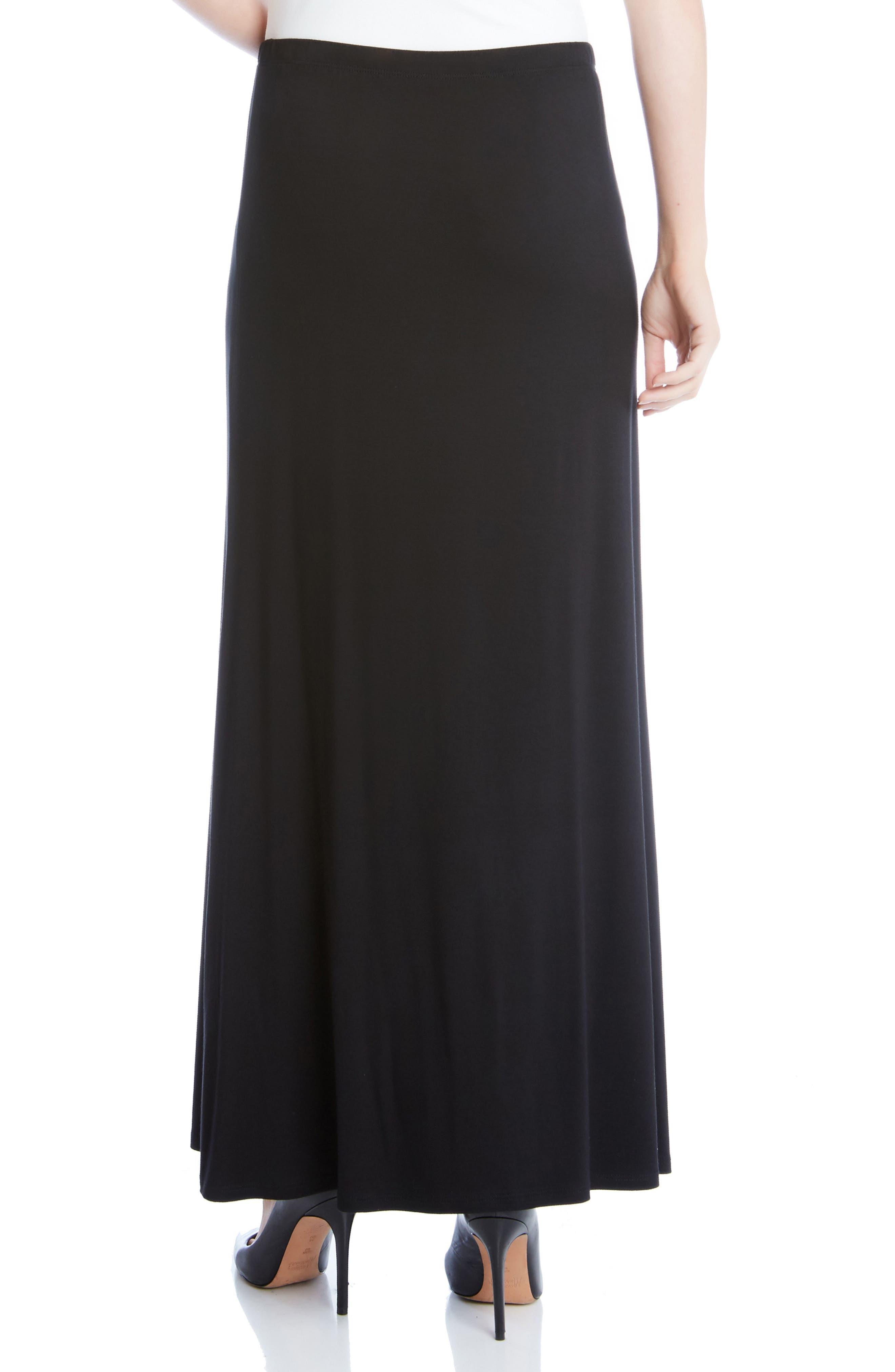 KAREN KANE, Maxi Skirt, Alternate thumbnail 2, color, BLACK