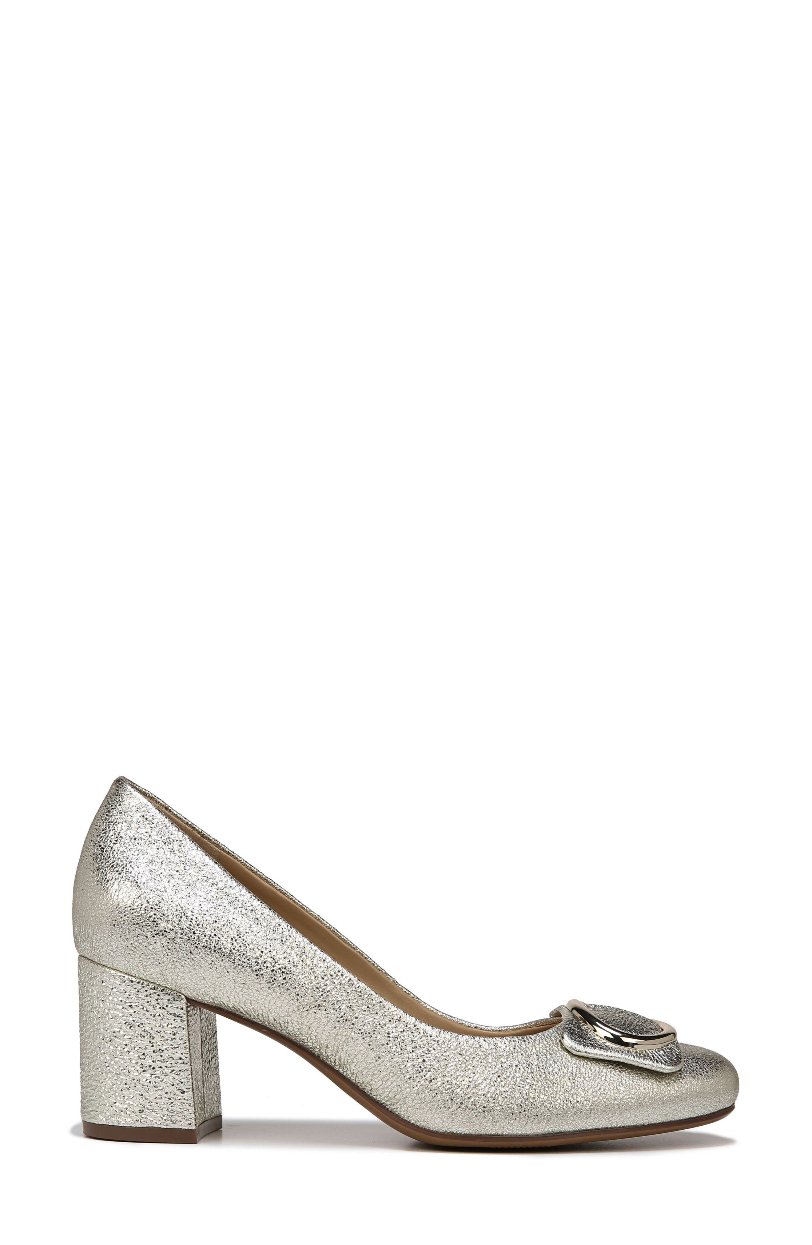 NATURALIZER, Wright Pump, Alternate thumbnail 3, color, PLATINO LEATHER
