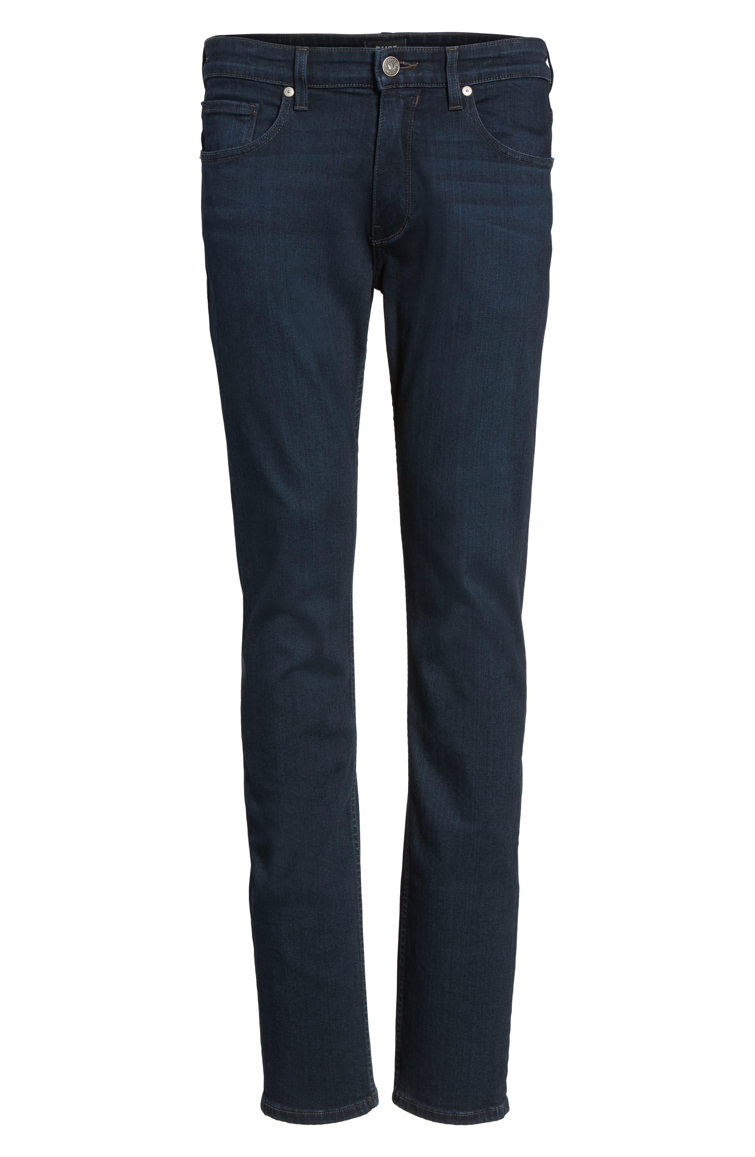 PAIGE, Normandie Straight Leg Jeans, Alternate thumbnail 7, color, ARLO