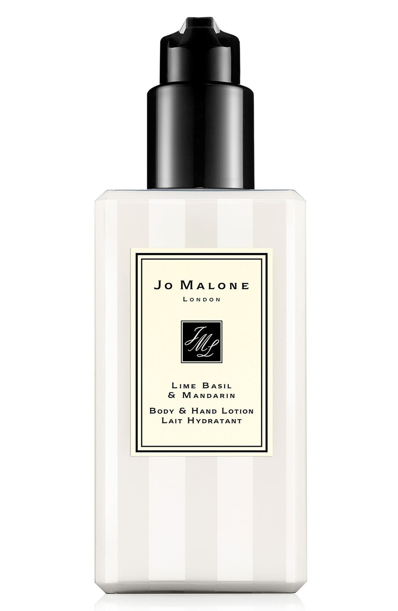 JO MALONE LONDON<SUP>™</SUP>, Lime Basil & Mandarin Body & Hand Lotion, Main thumbnail 1, color, NO COLOR