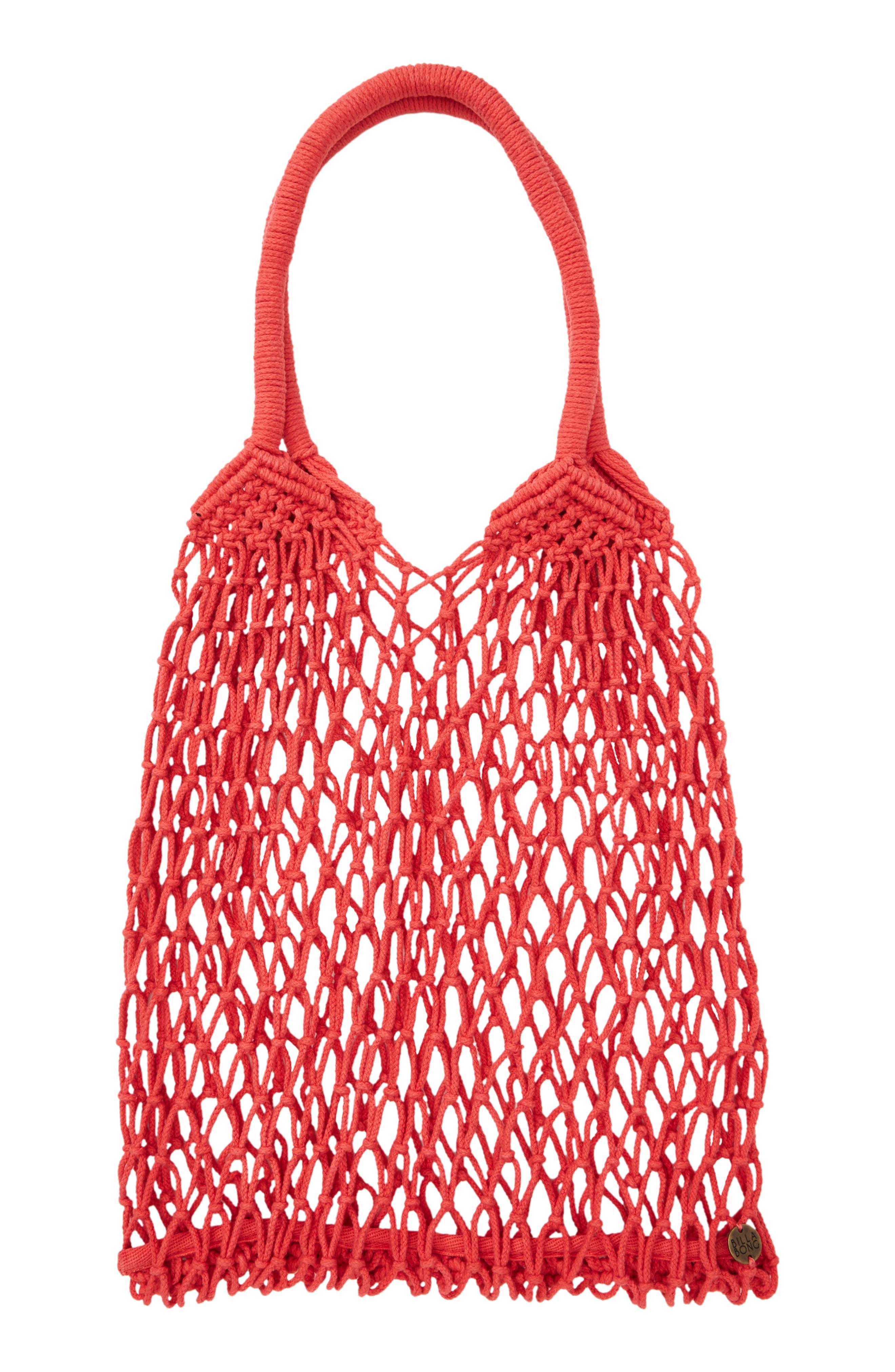 BILLABONG Water U Doin Net Bag, Main, color, SUNSET RED